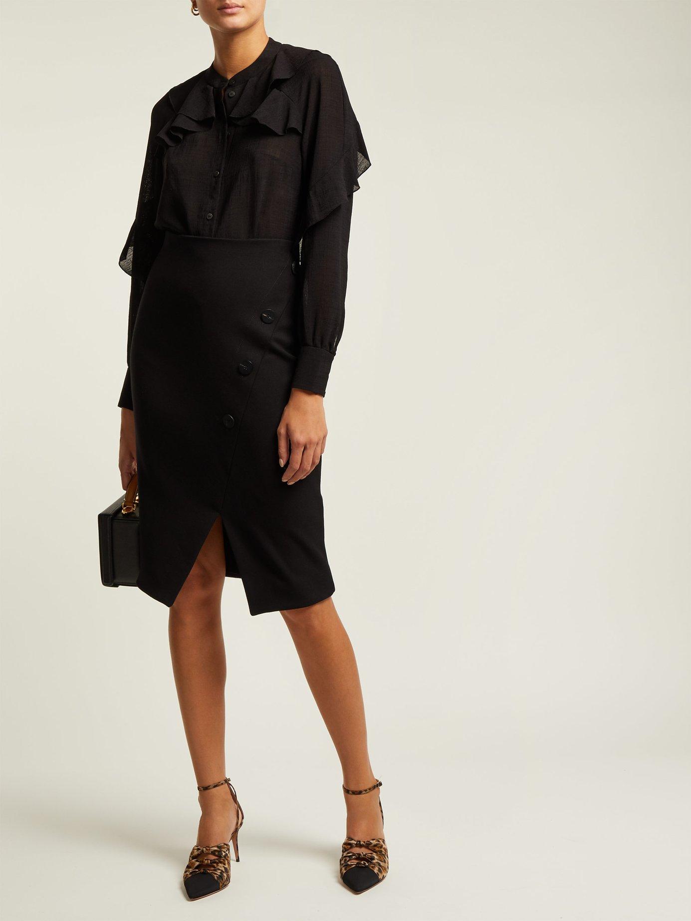 Ruffled voile blouse by Cefinn