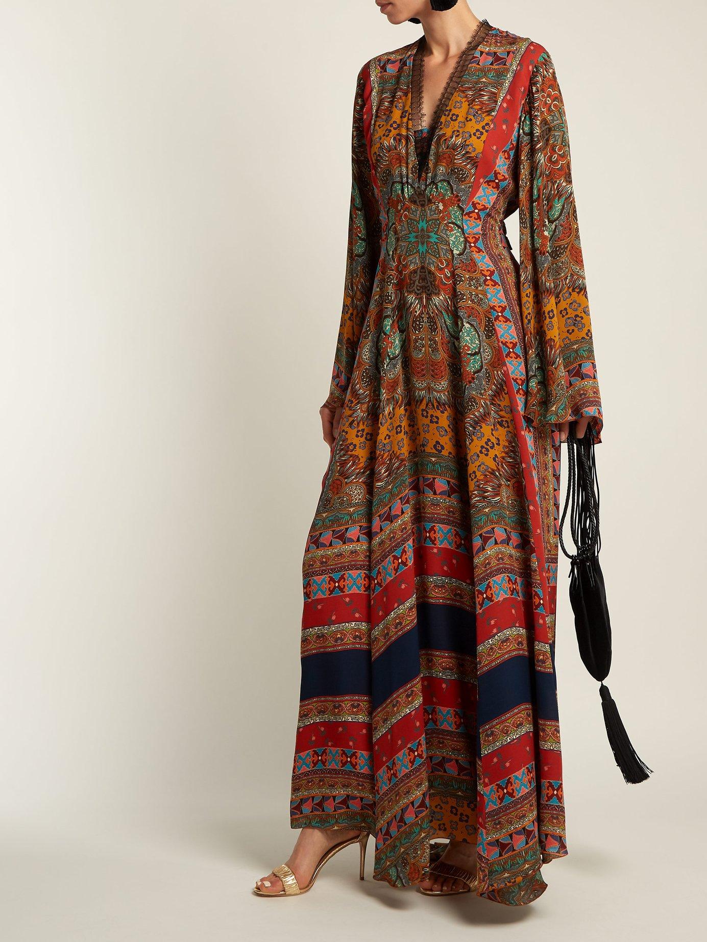 Zoist paisley-print silk-chiffon dress by Etro