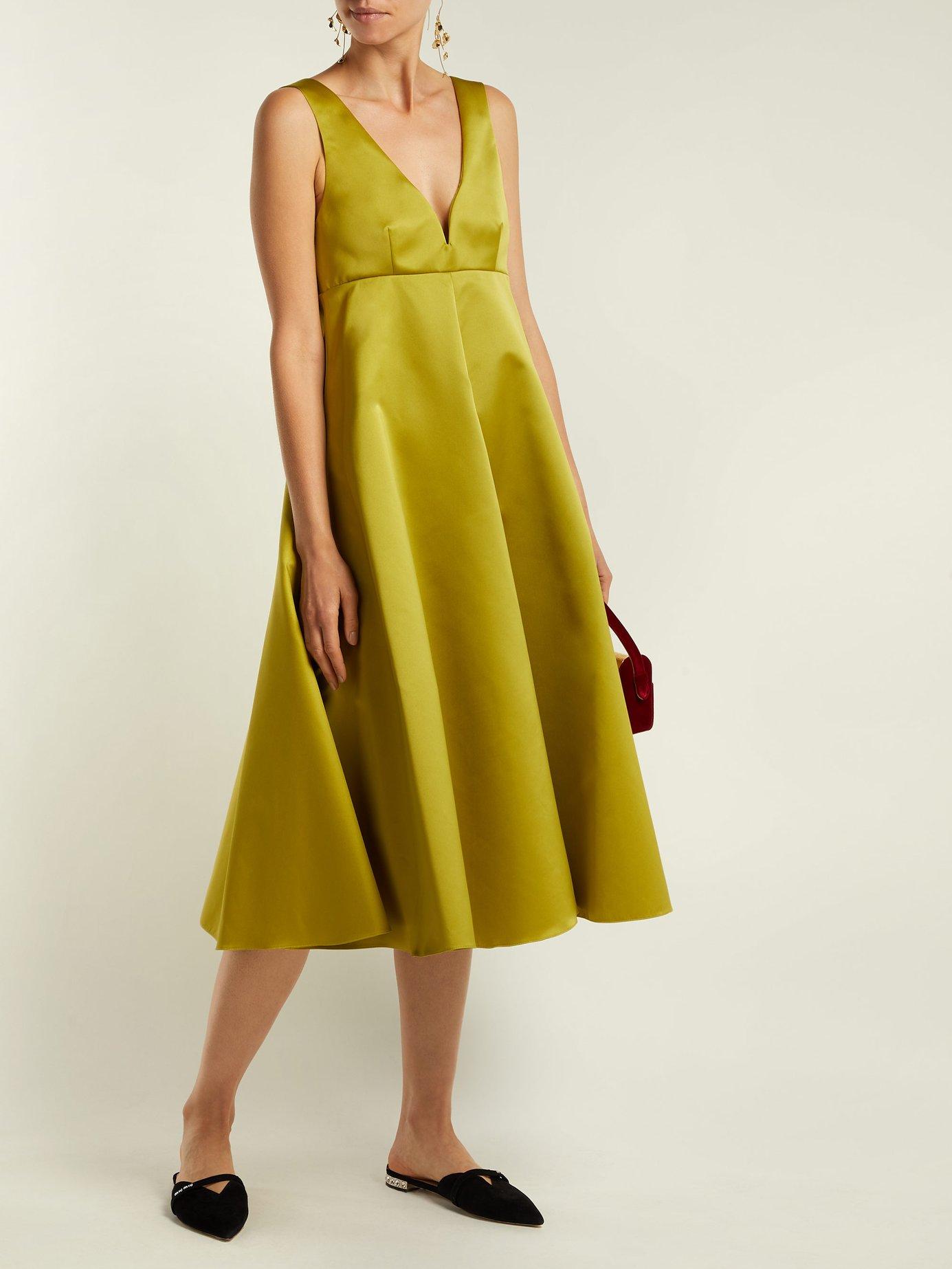 Duchess-satin midi dress by Rochas