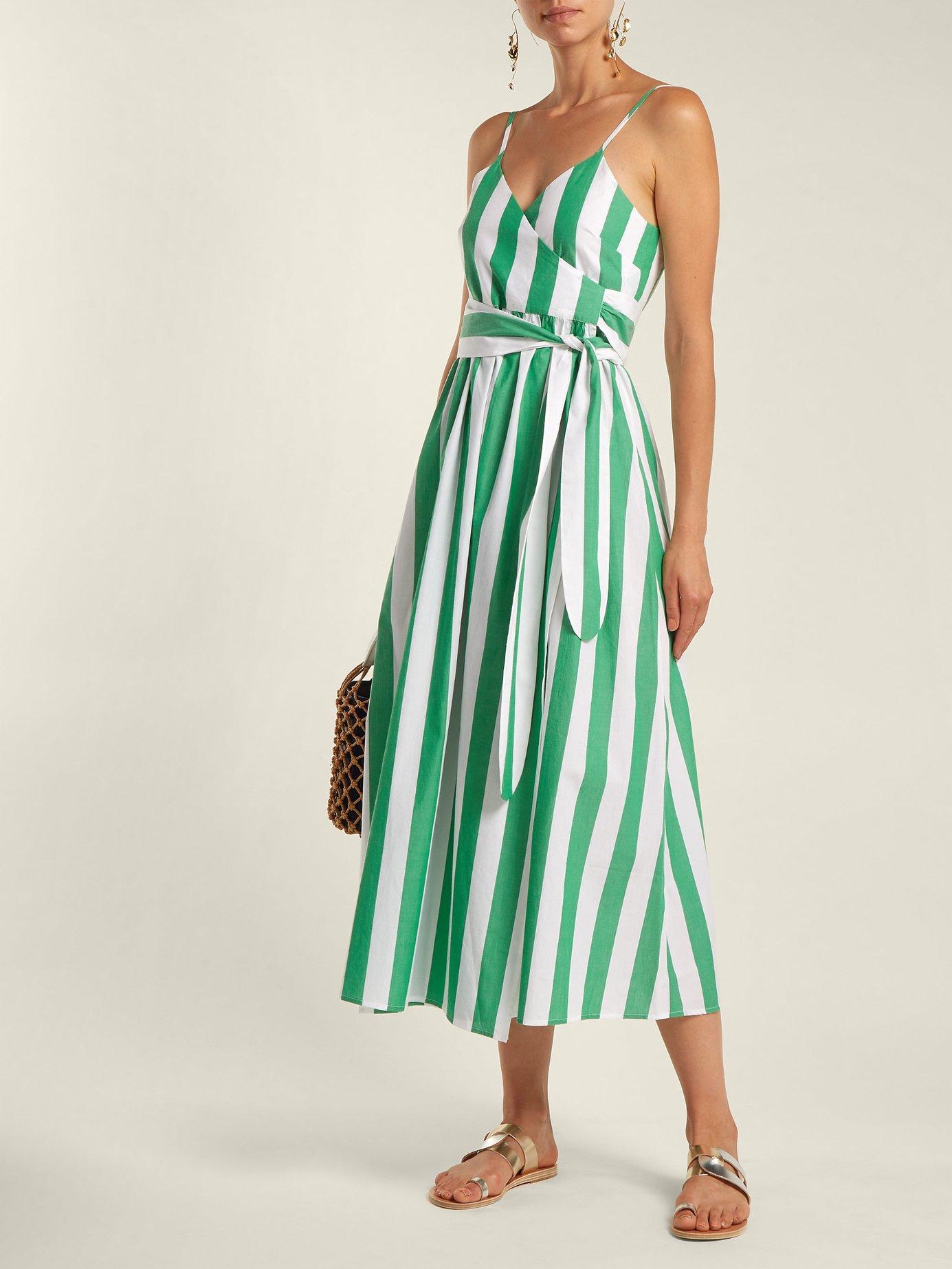 Alma bungalow-stripe wrap dress by Mara Hoffman