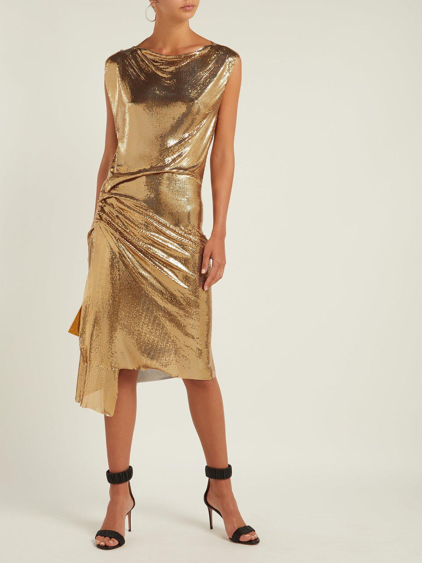 Draped metal mesh dress by Paco Rabanne