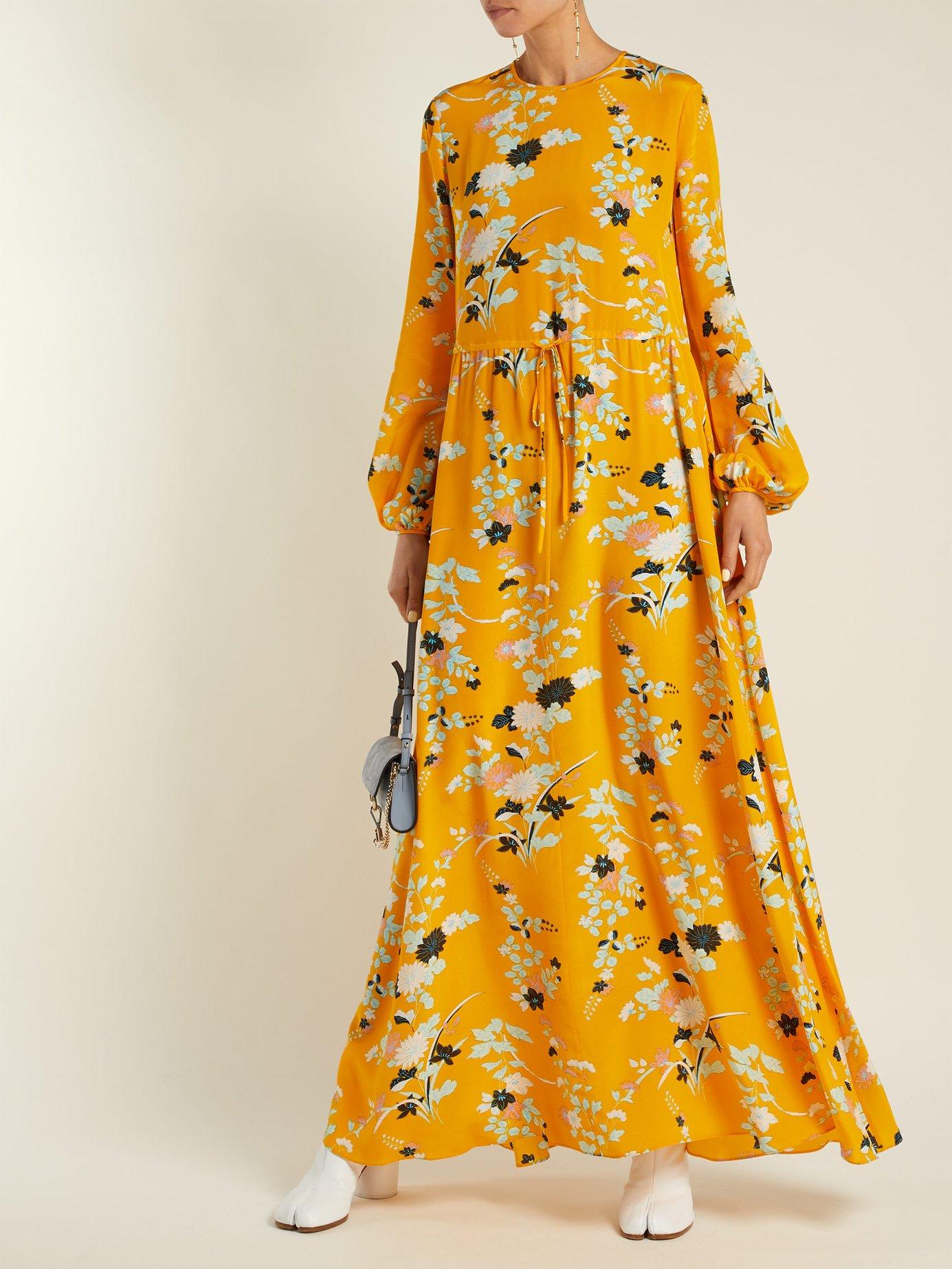 Walden Marigold-print silk maxi dress by Diane Von Furstenberg