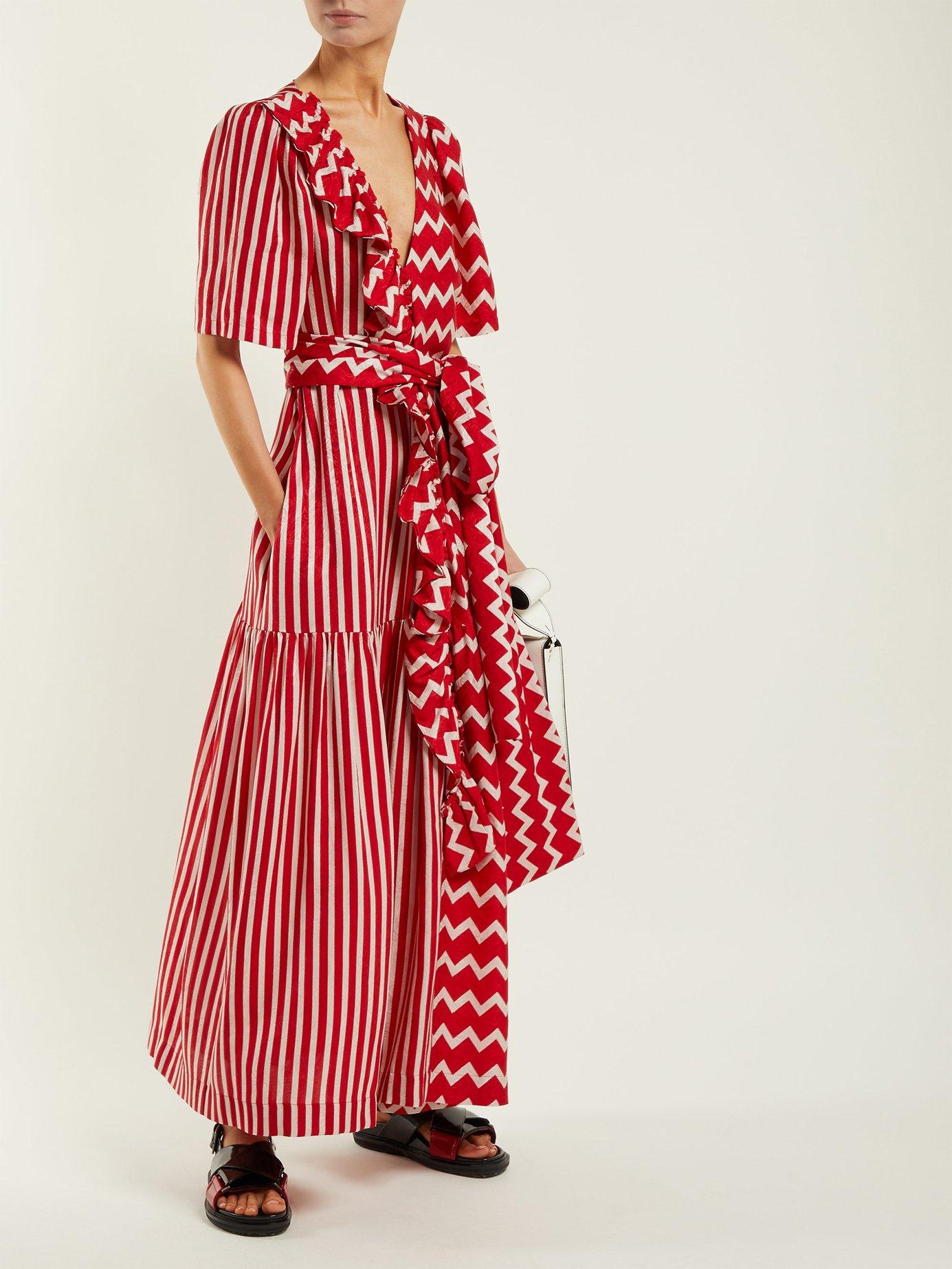 Gabrielle zigzag-print maxi dress by Stella Mccartney
