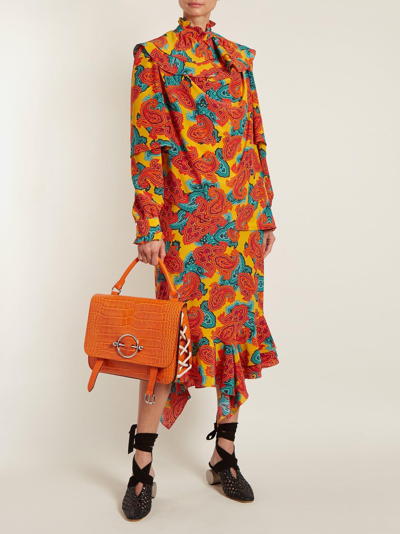 Paisley-print silk midi dress by Jw Anderson