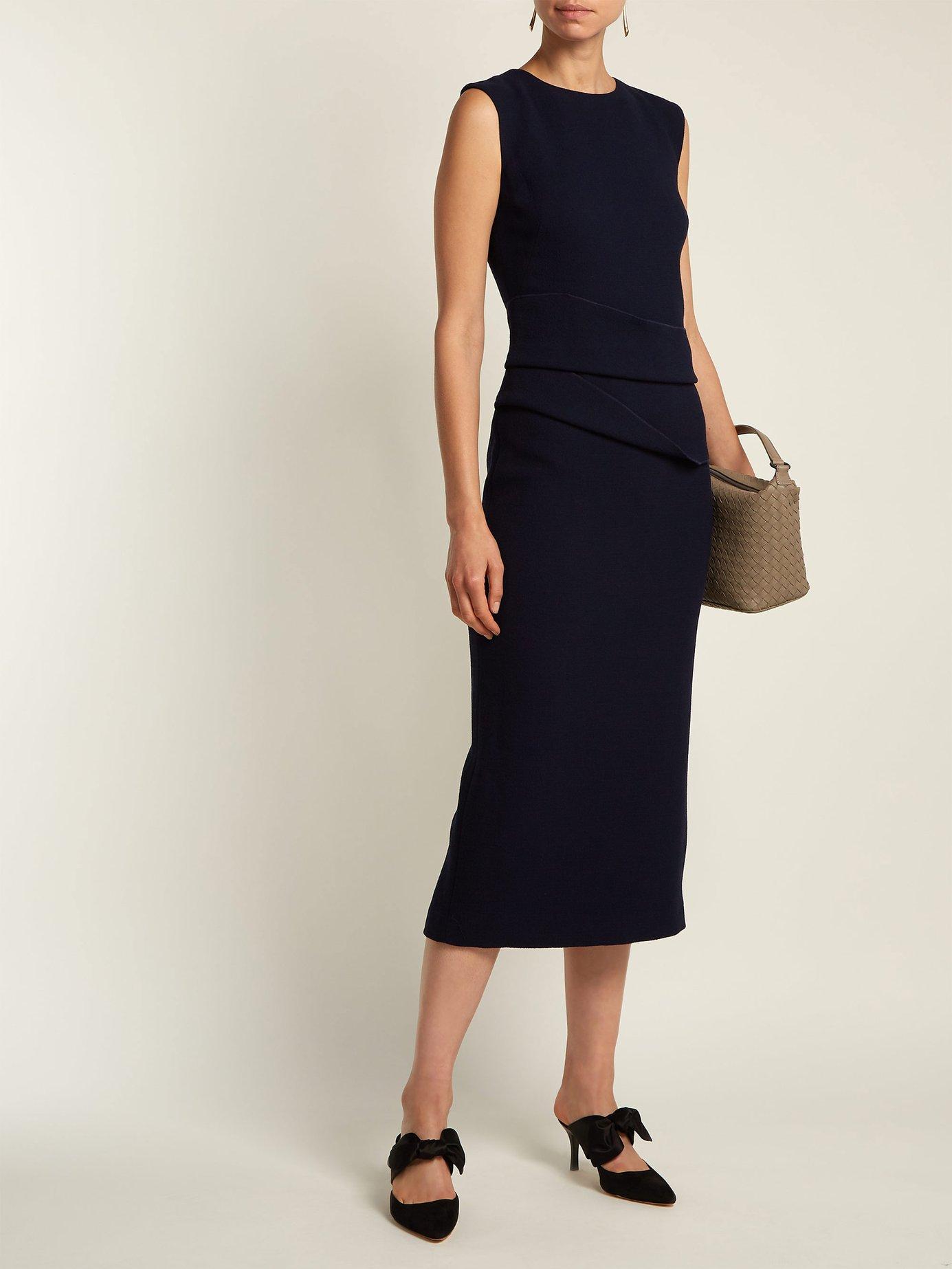 Luna wool crepe dress by Carl Kapp