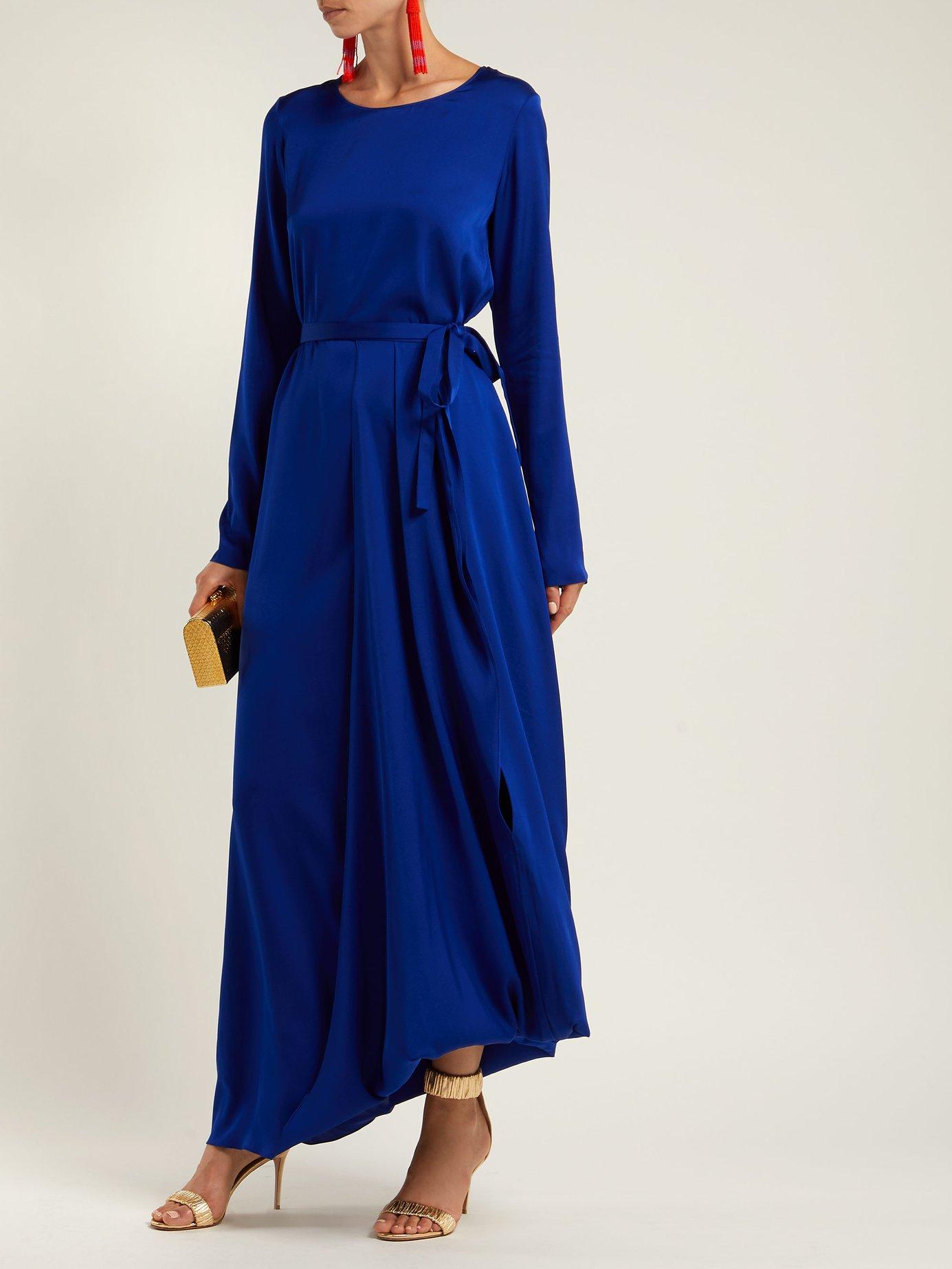Topaz silk-blend dress by Carl Kapp