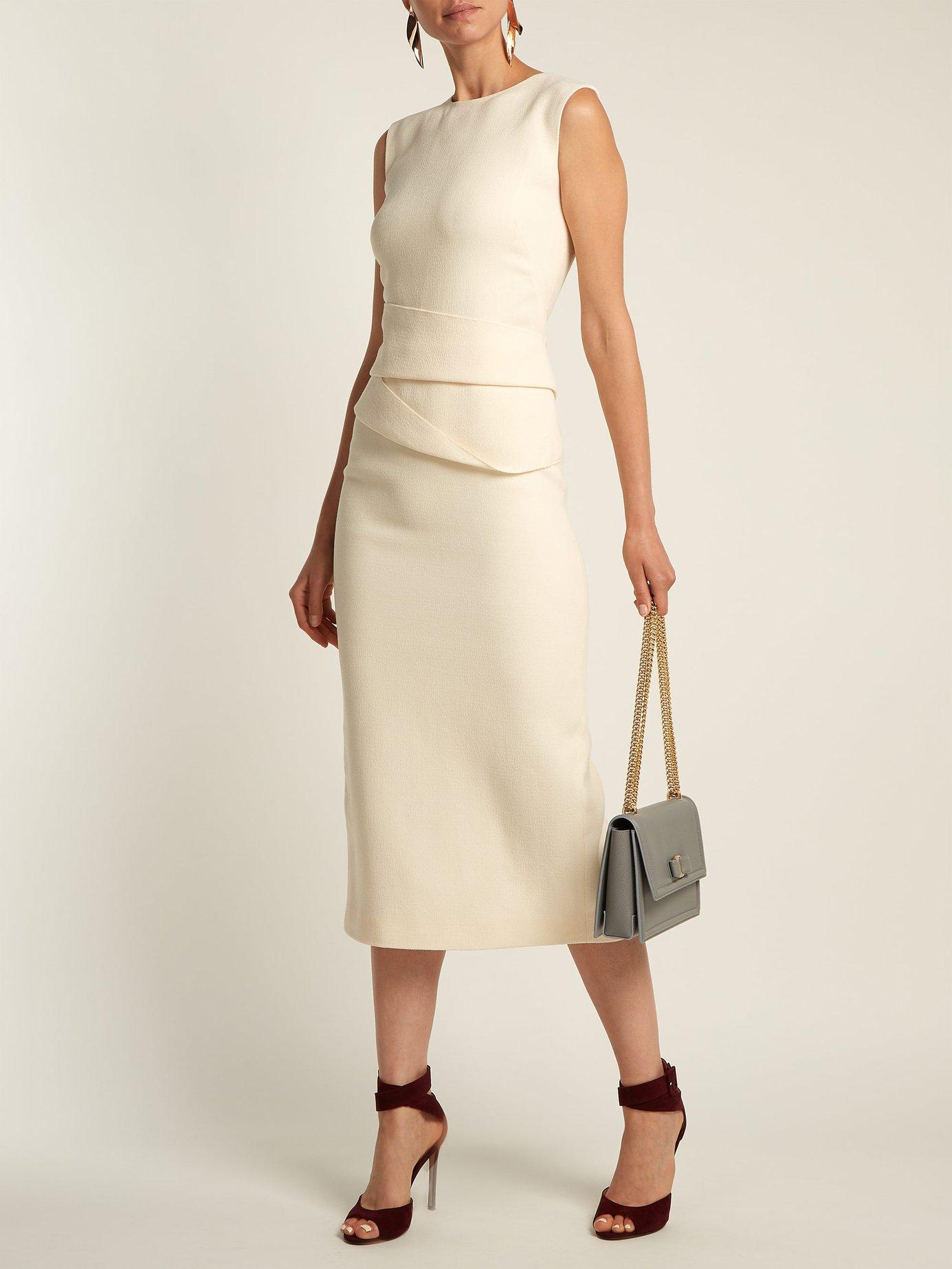 Luna wool-crepe dress by Carl Kapp