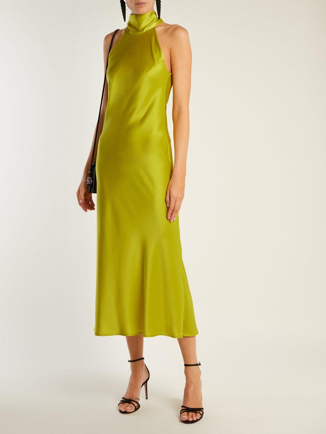 Sienna bias-cut satin dress by Galvan