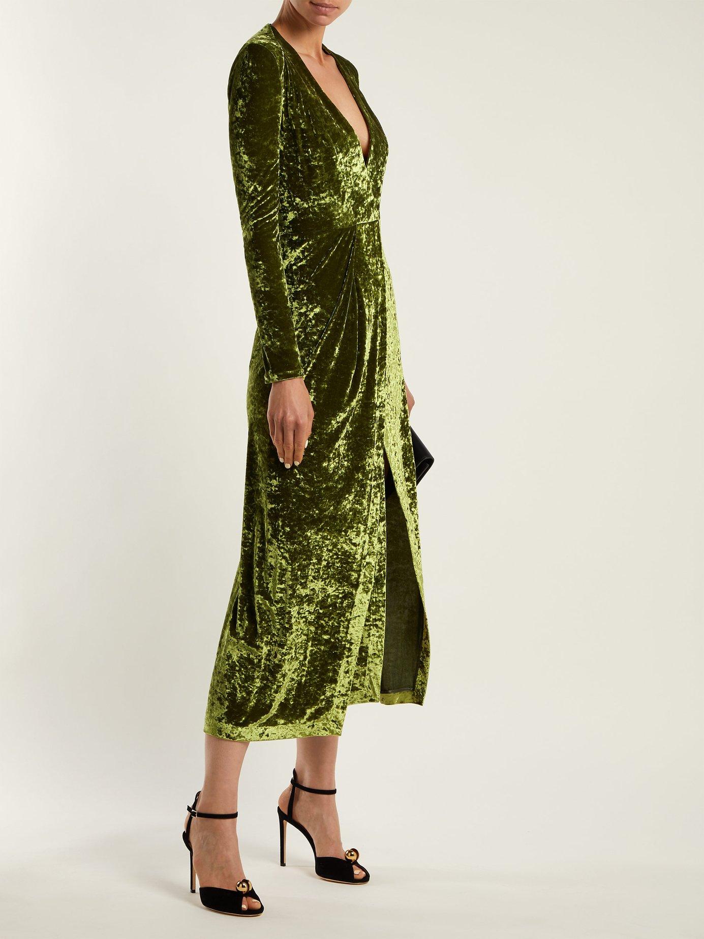 Cloud hammered-velvet dress by Galvan