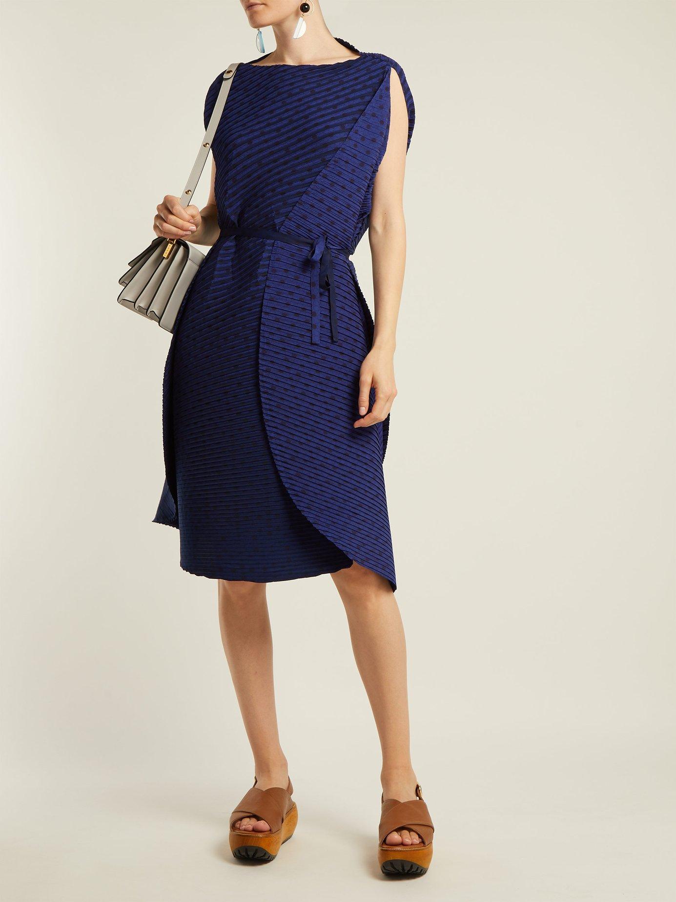 Sunlight pleated midi dress by Issey Miyake