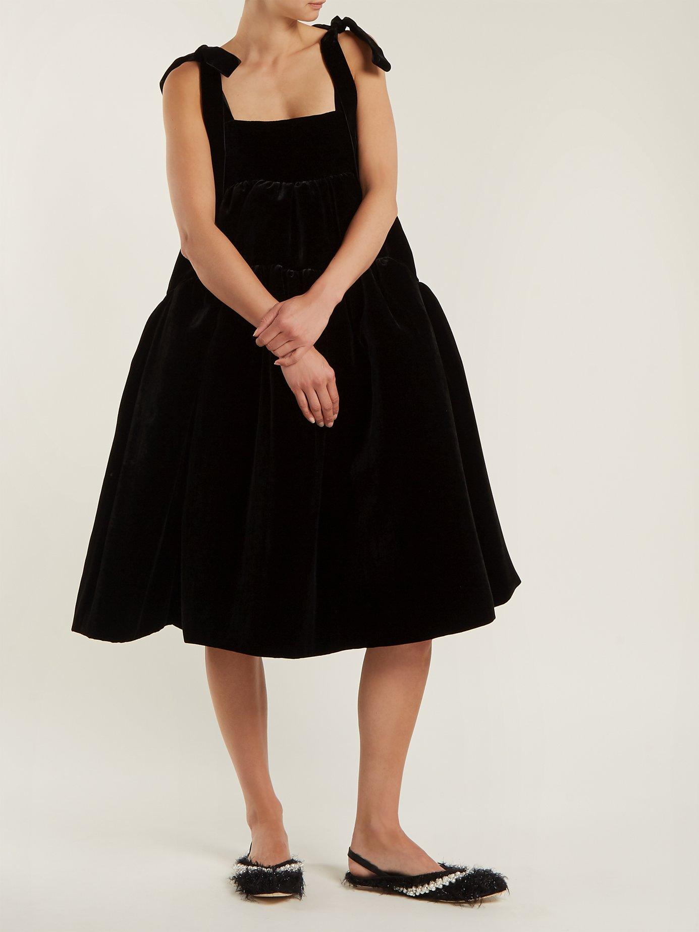 Bey velvet dress by Cecilie Bahnsen