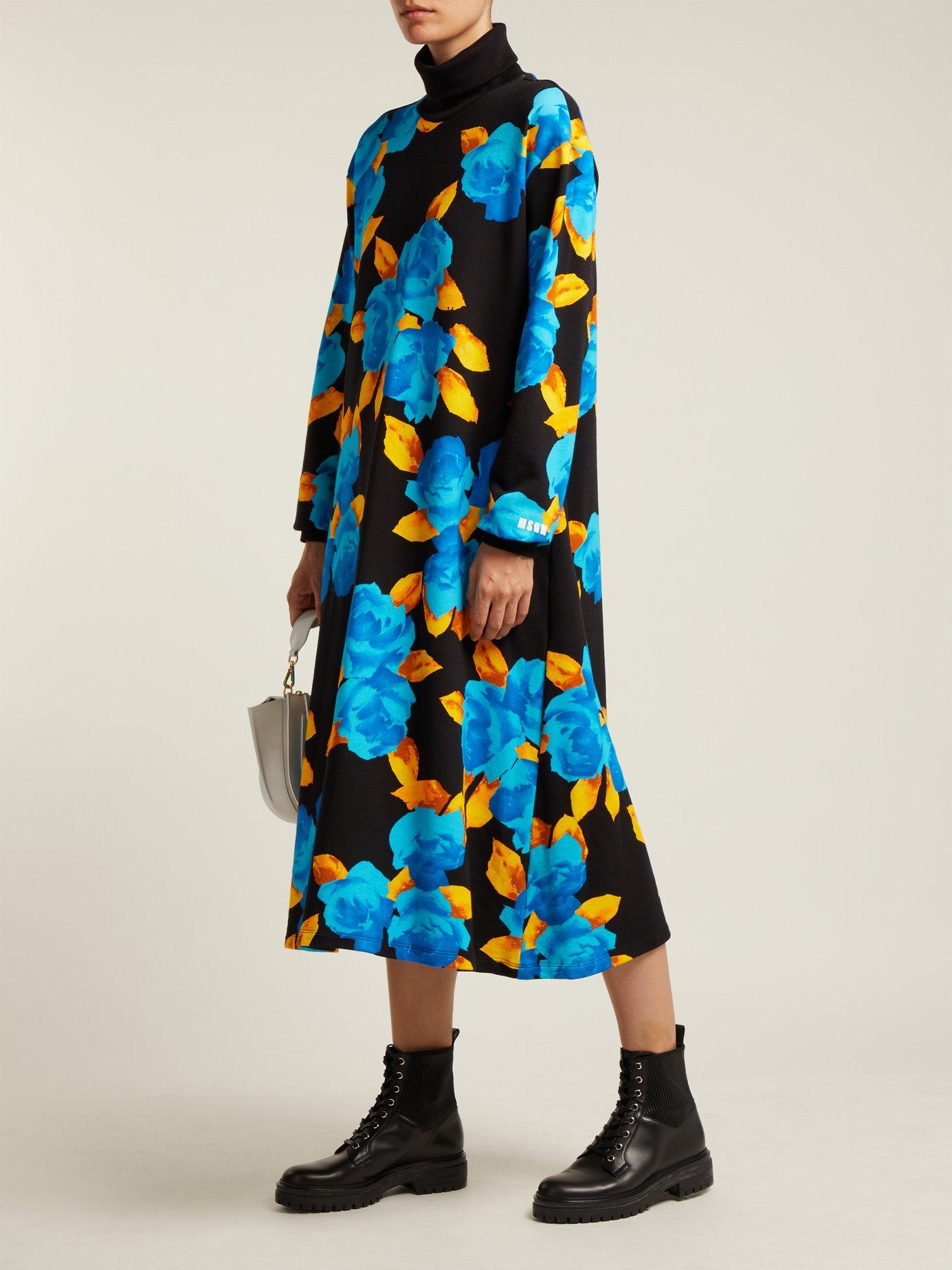 Floral-print cotton-jersey dress by Msgm
