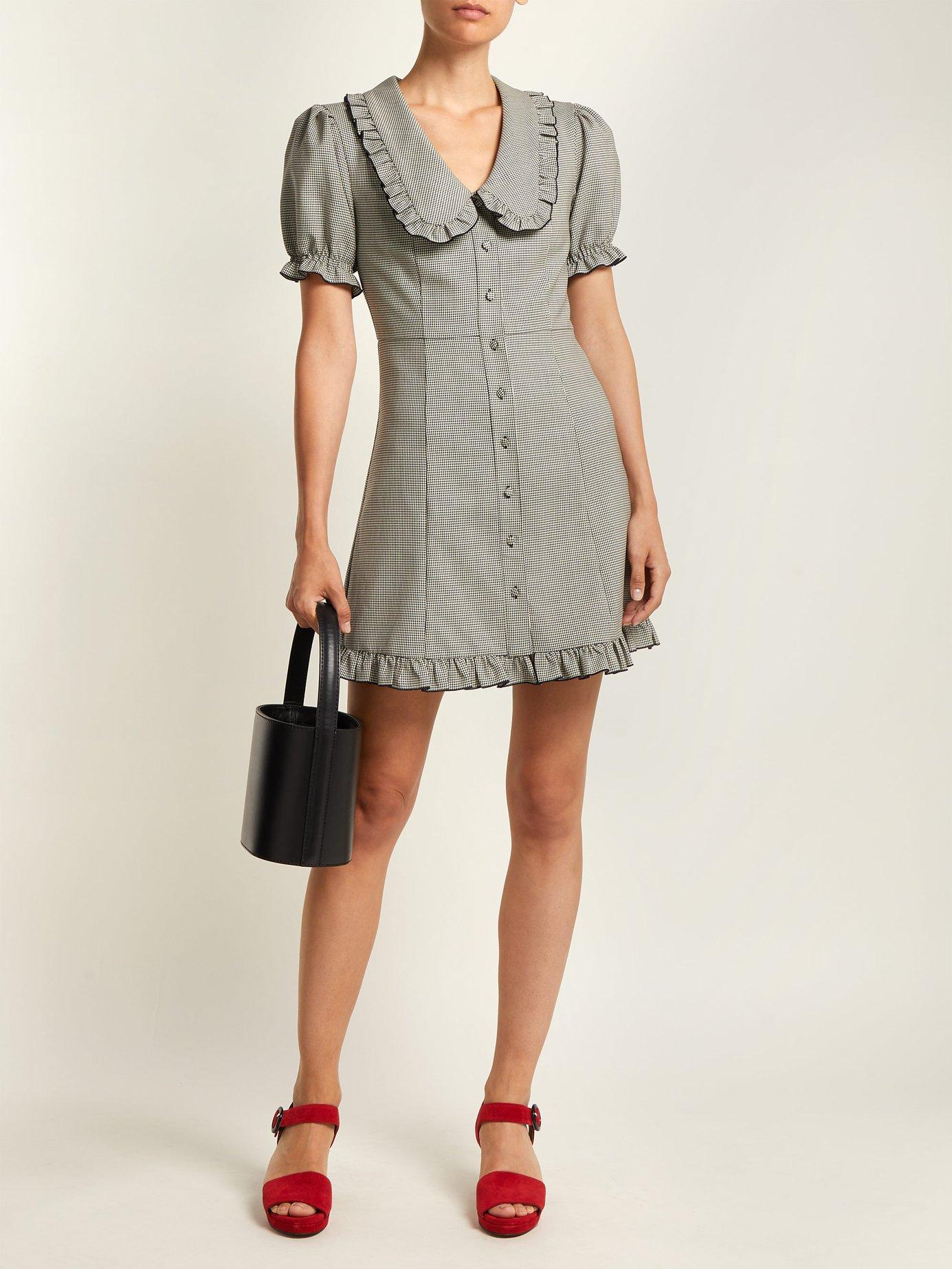 Puritan-collar babydoll dress by Alexachung