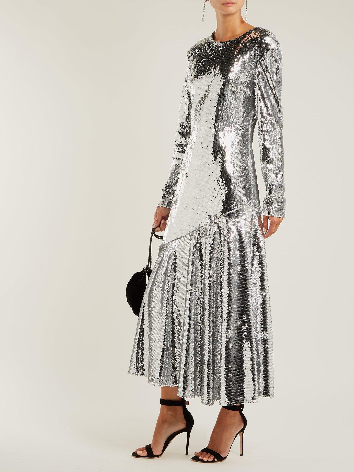 Gilda sequin-embellished dress by Racil
