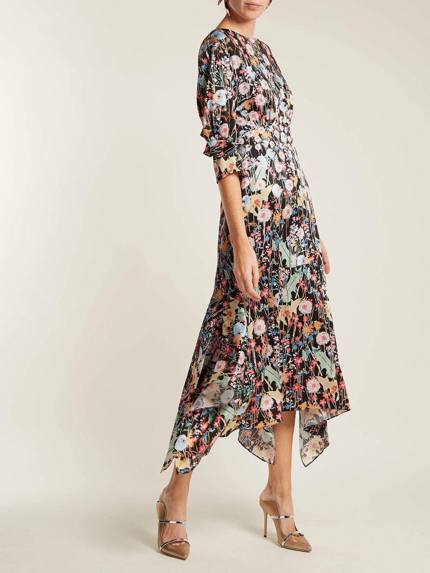 Dandelion-print silk dress by Peter Pilotto