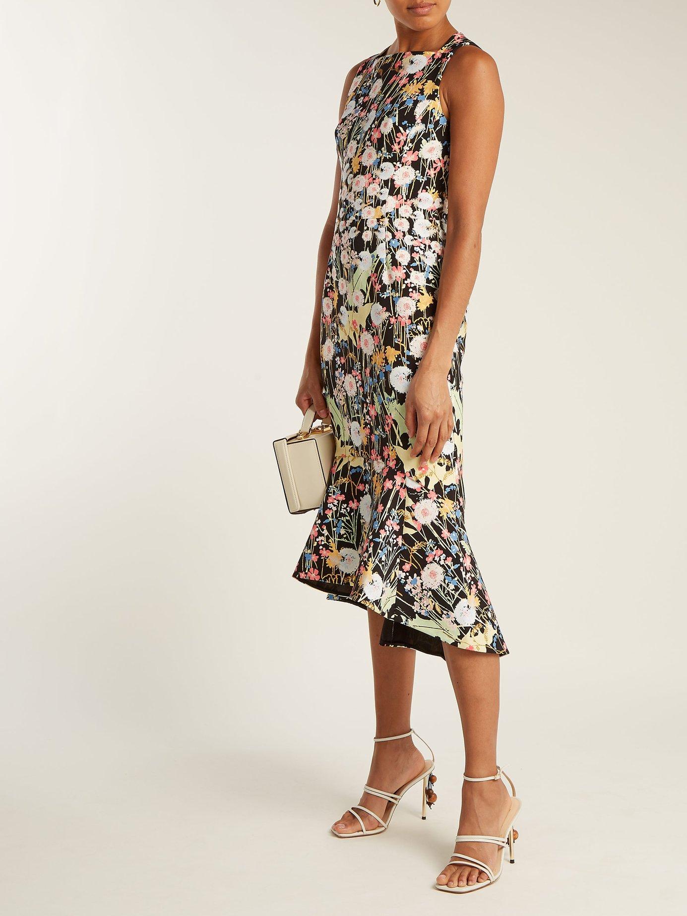 Kia floral-print cady midi dress by Peter Pilotto