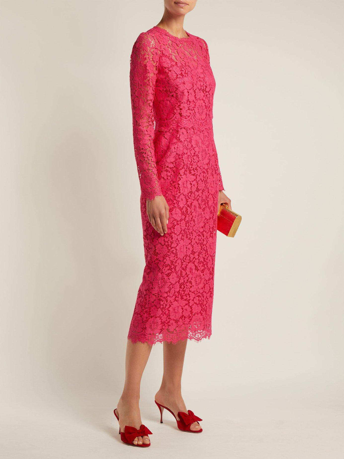 Cordonetto-lace midi dress by Dolce & Gabbana