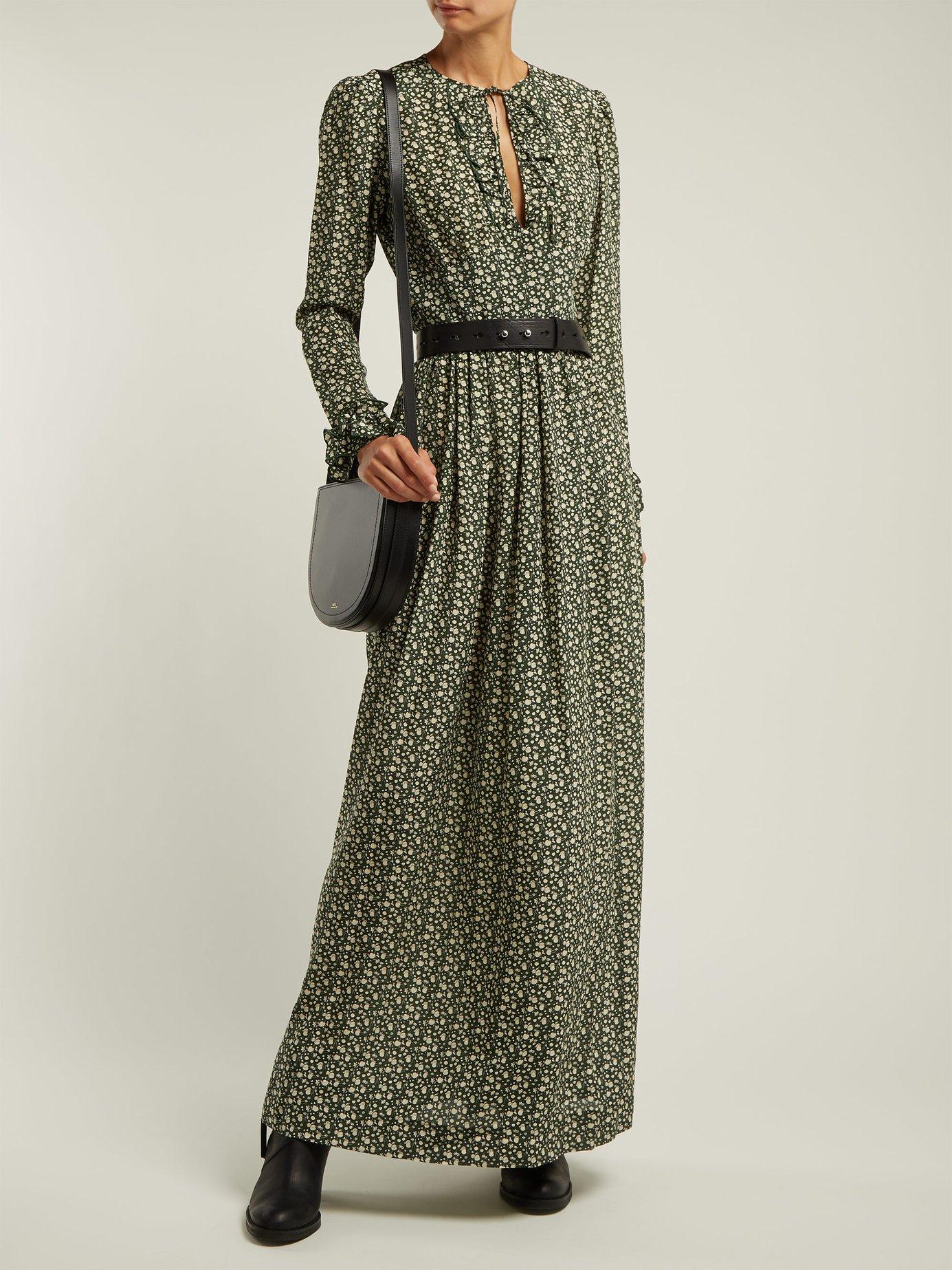 Sina printed silk-crepe maxi dress by A.P.C.