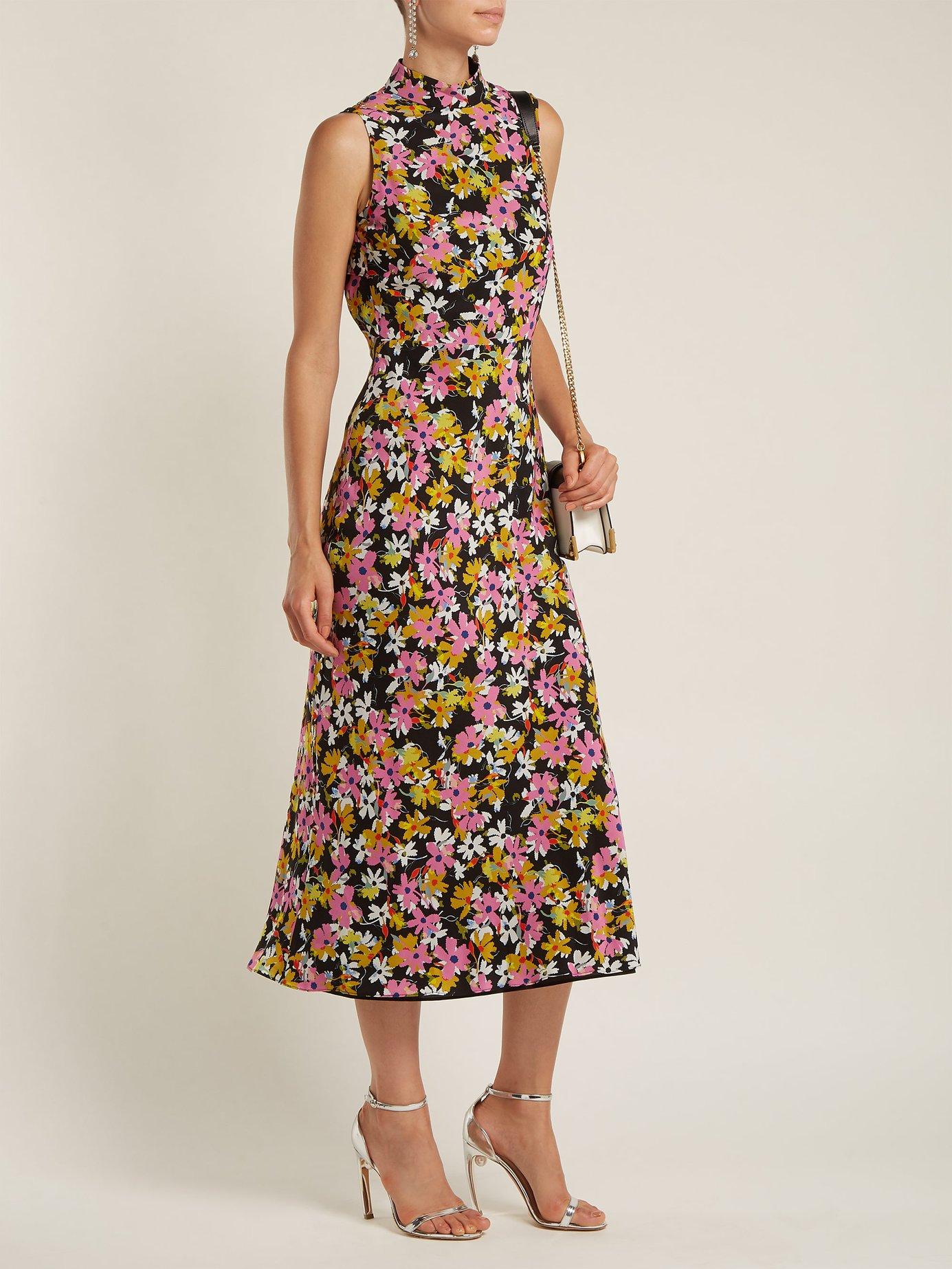Gemma floral-print silk-chiffon dress by Saloni