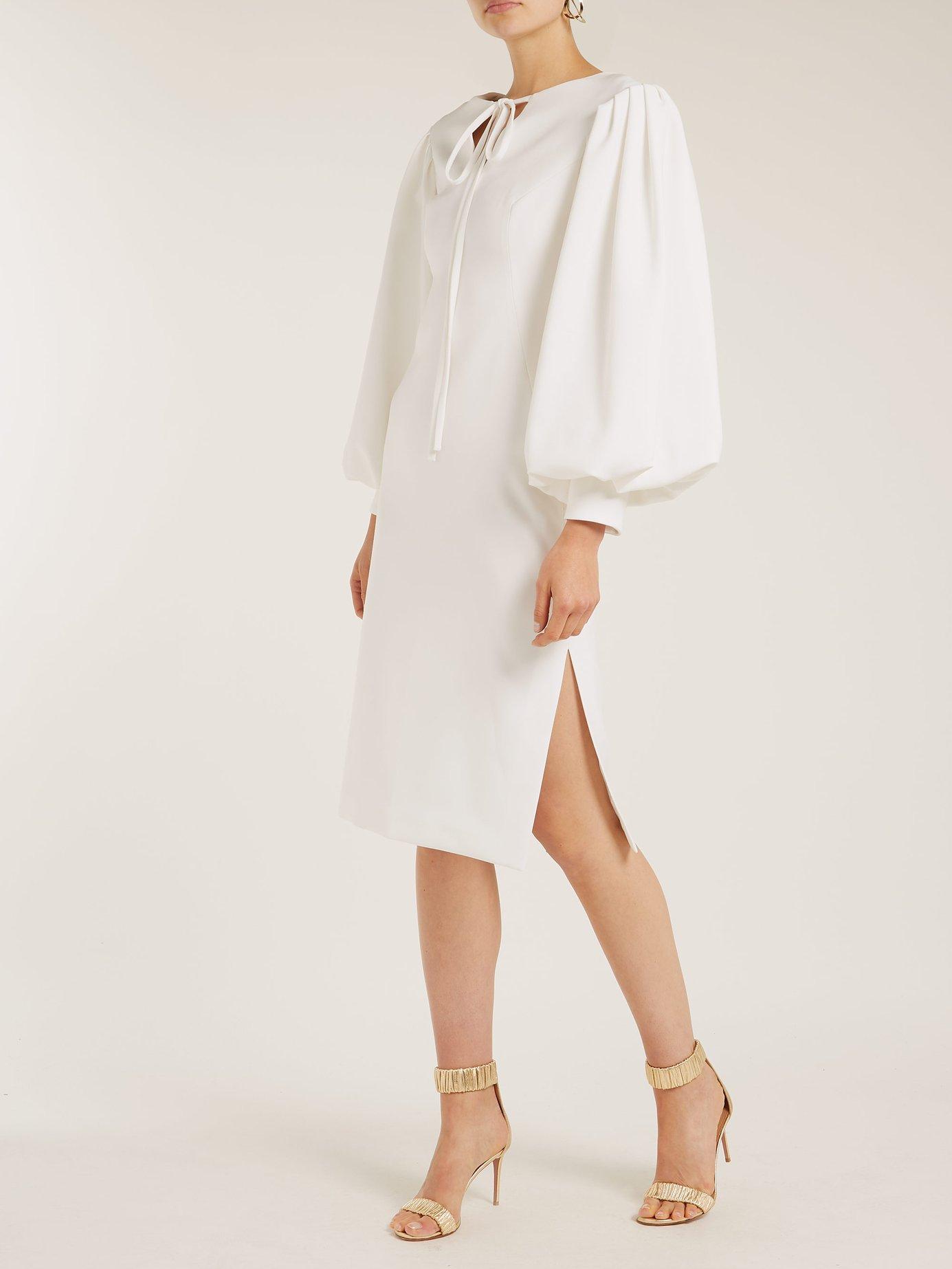 Maxine blouson-sleeve midi dress by Osman