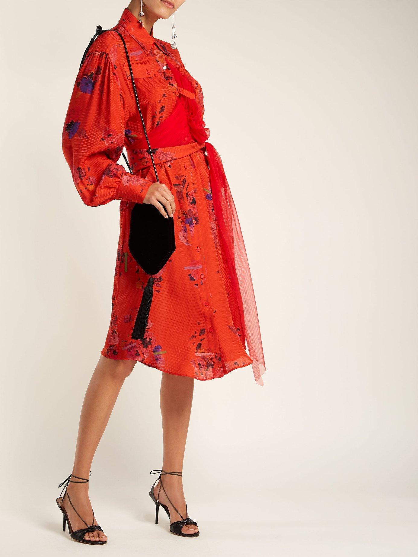 Susanna floral-print silk shirtdress by Preen By Thornton Bregazzi
