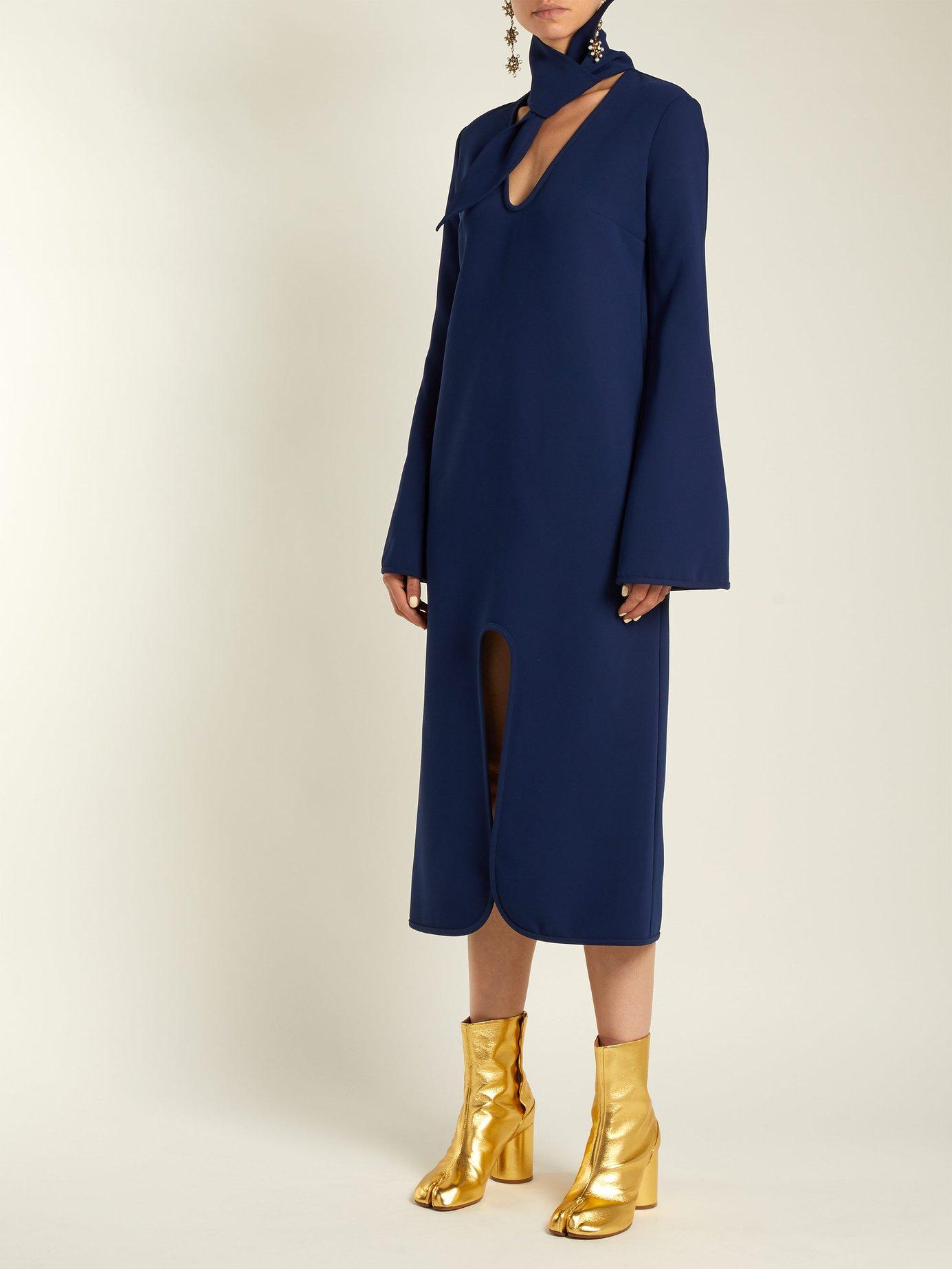 Beatification split midi dress by Ellery