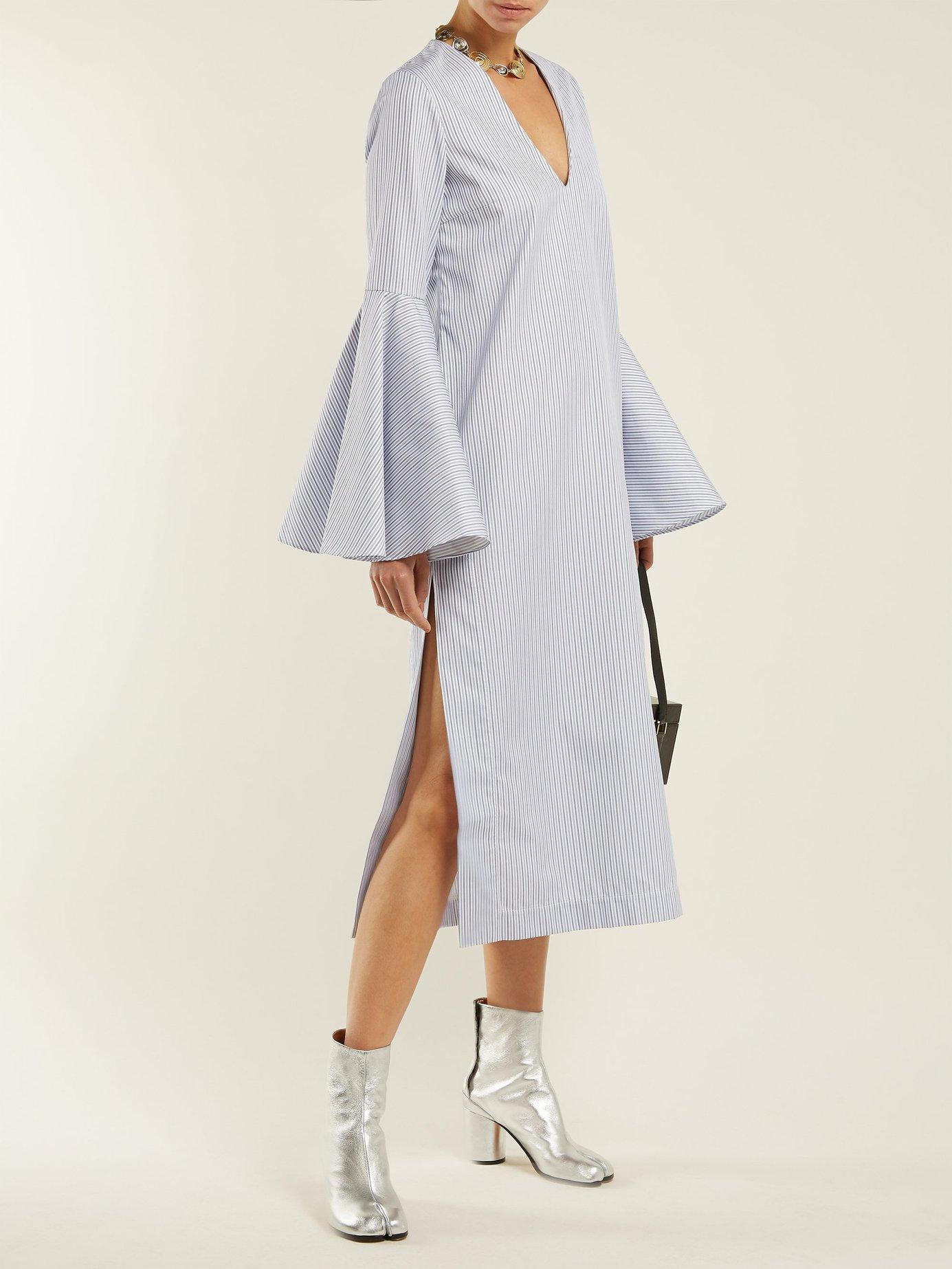 Hildeberg V-neck cotton dress by Ellery