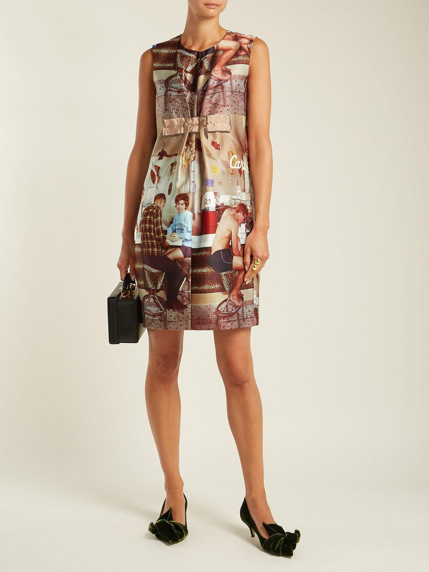 Printed sleeveless dress by No. 21