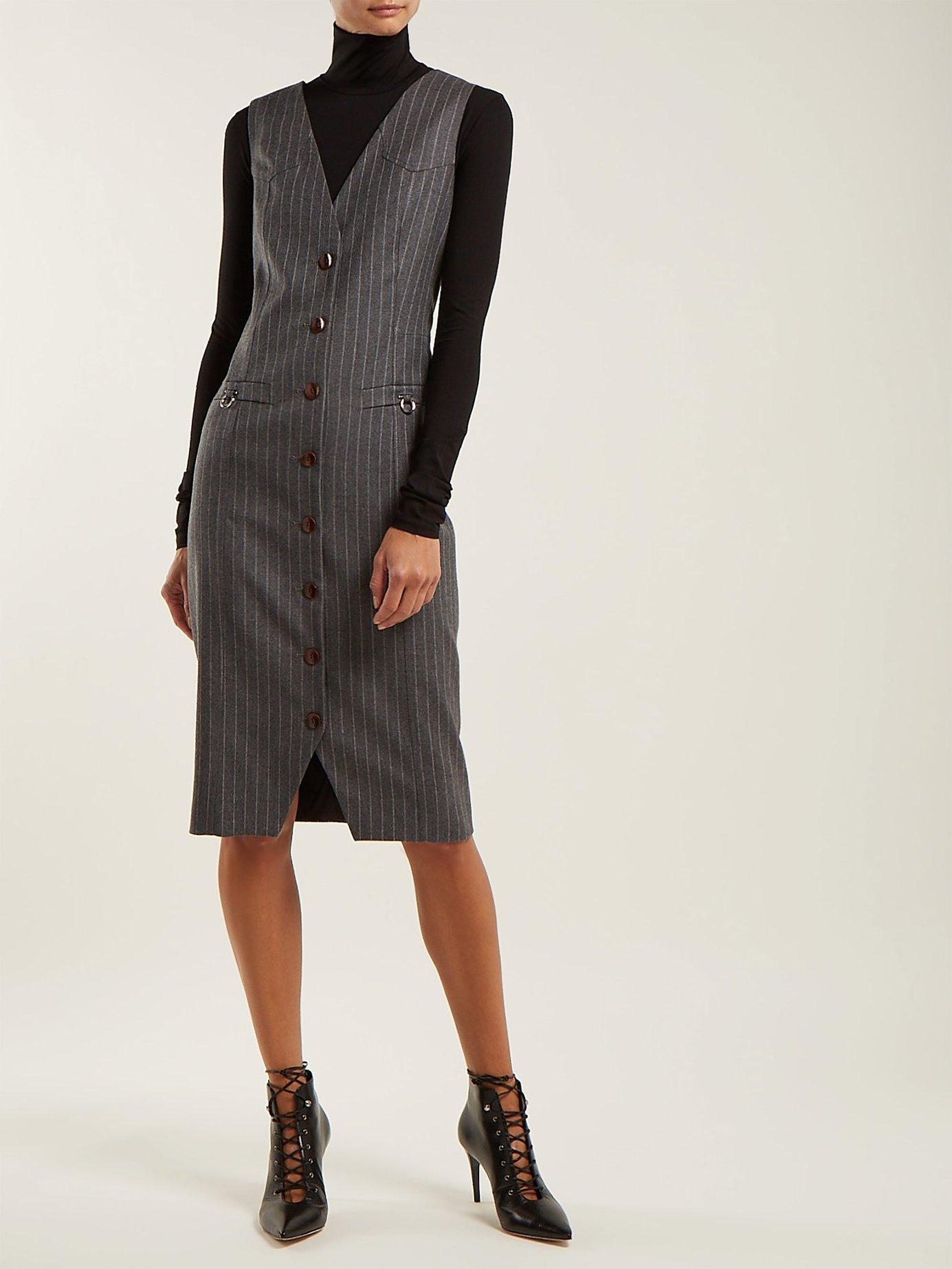 Naomi single-breasted wool dress by Altuzarra