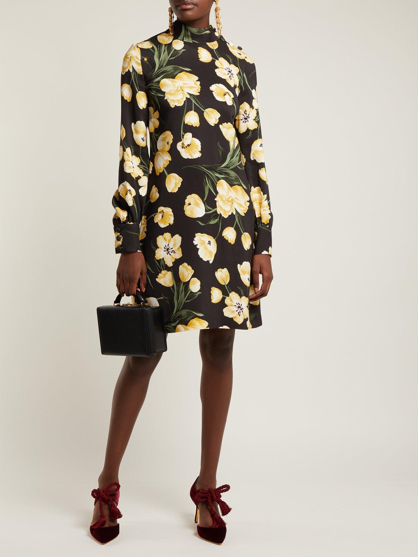 Garland high-neck dress by Goat