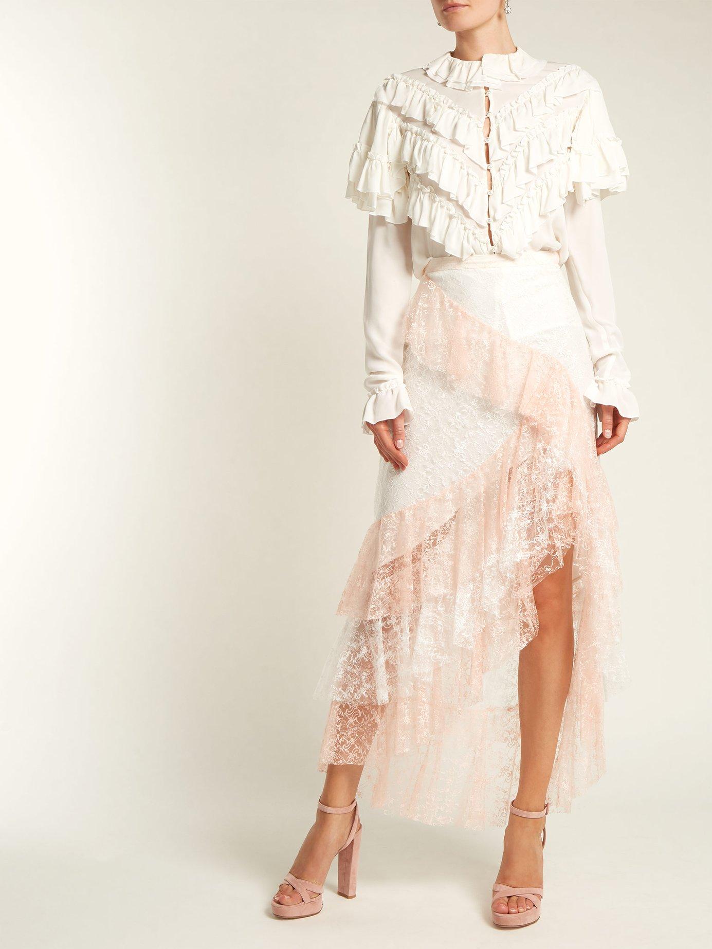 Ruffled silk blouse by Rodarte