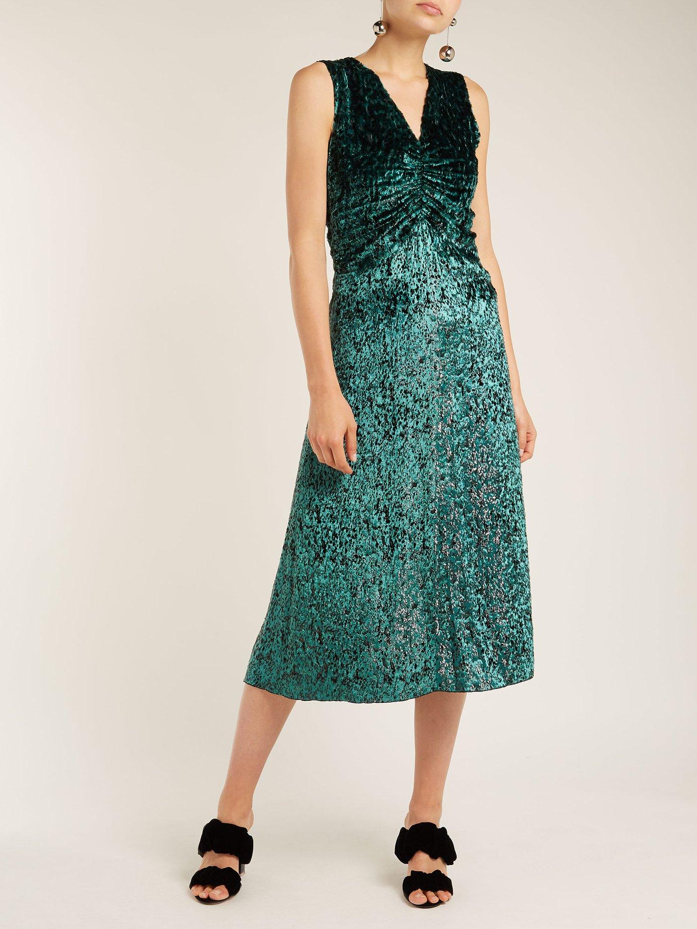 Laurent ruched velvet dress by Masscob
