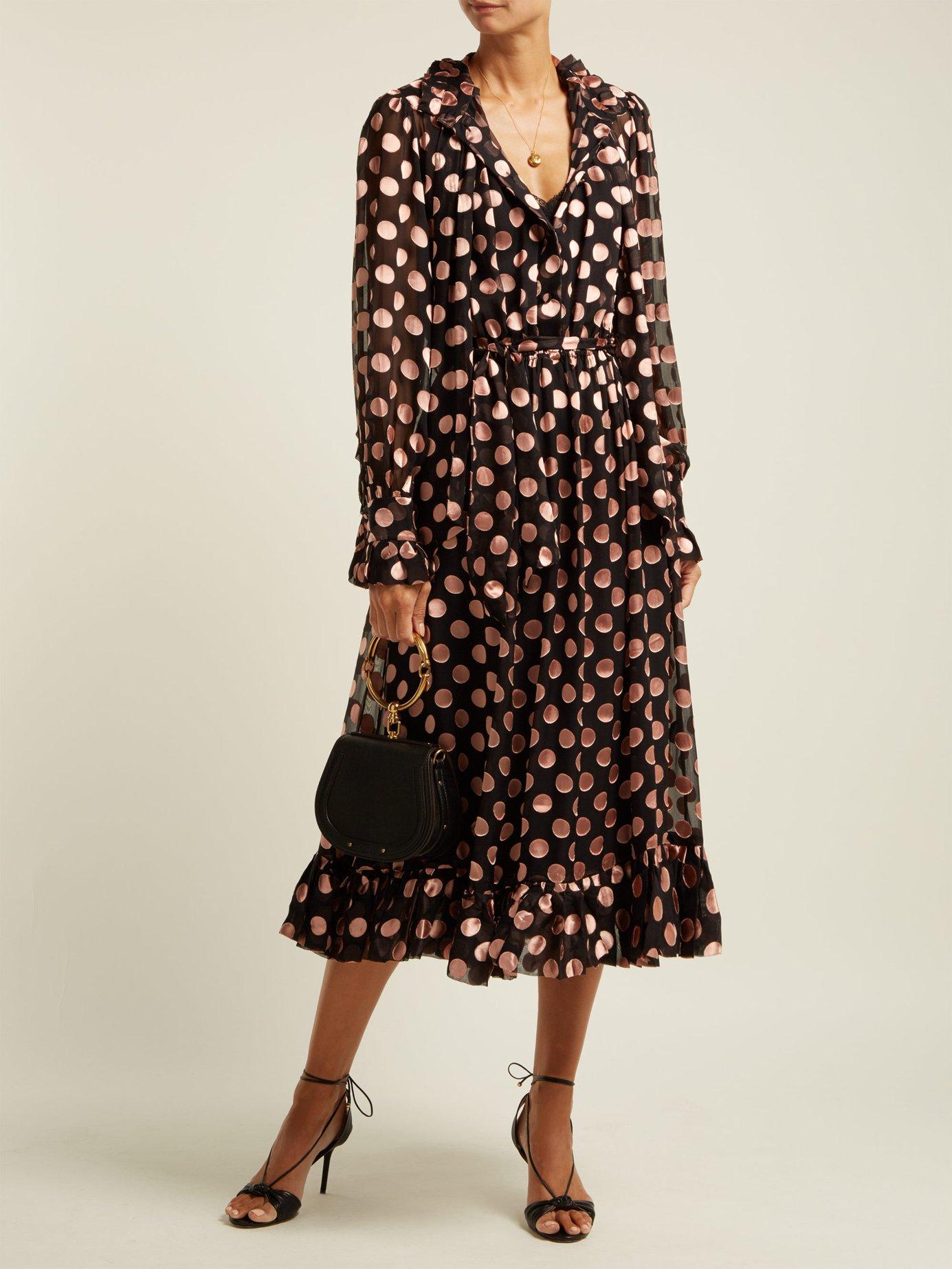 Polka-dot crepe-chiffon dress by Zimmermann
