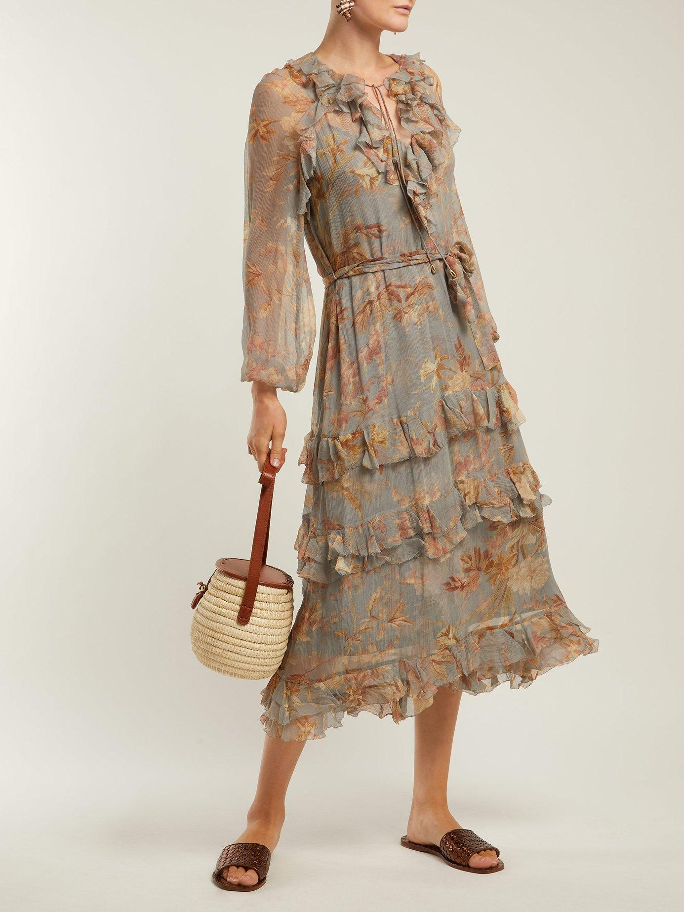 Unbridled Cascade floral-print silk dress by Zimmermann