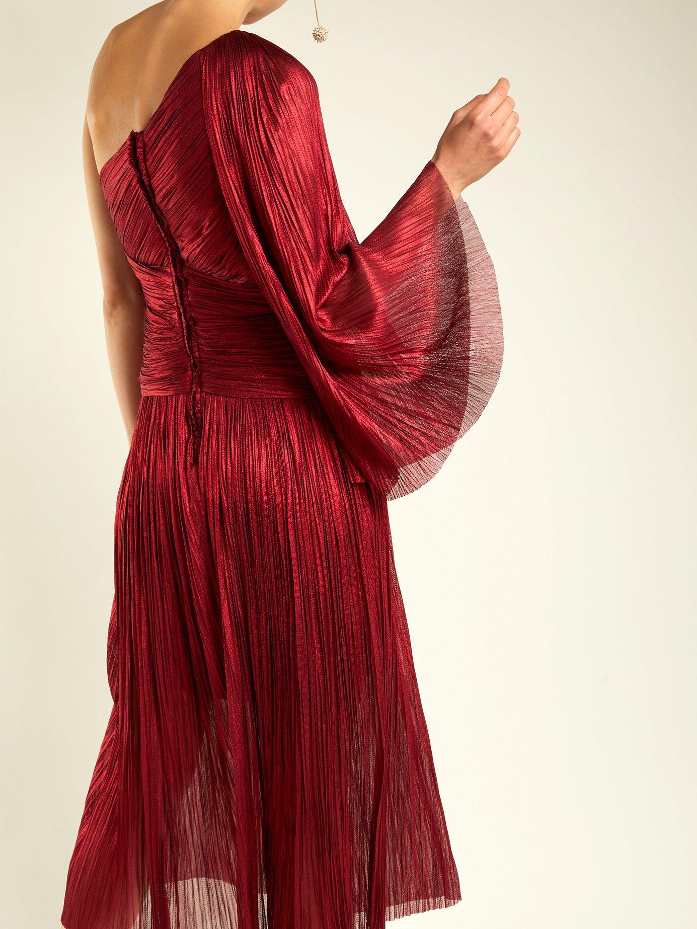 Aquila one-shoulder silk dress by Maria Lucia Hohan