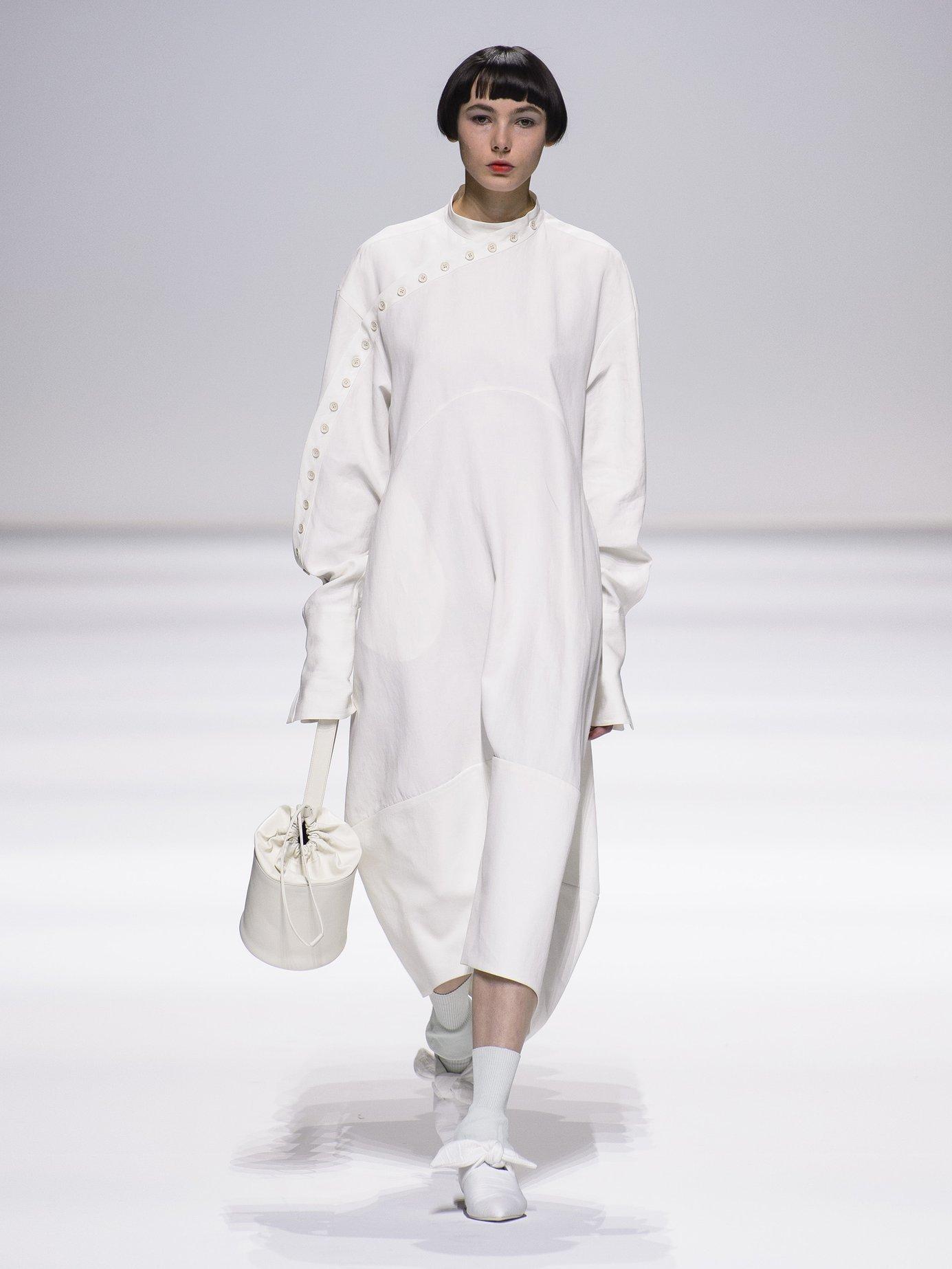 Side button-down dress by Jil Sander