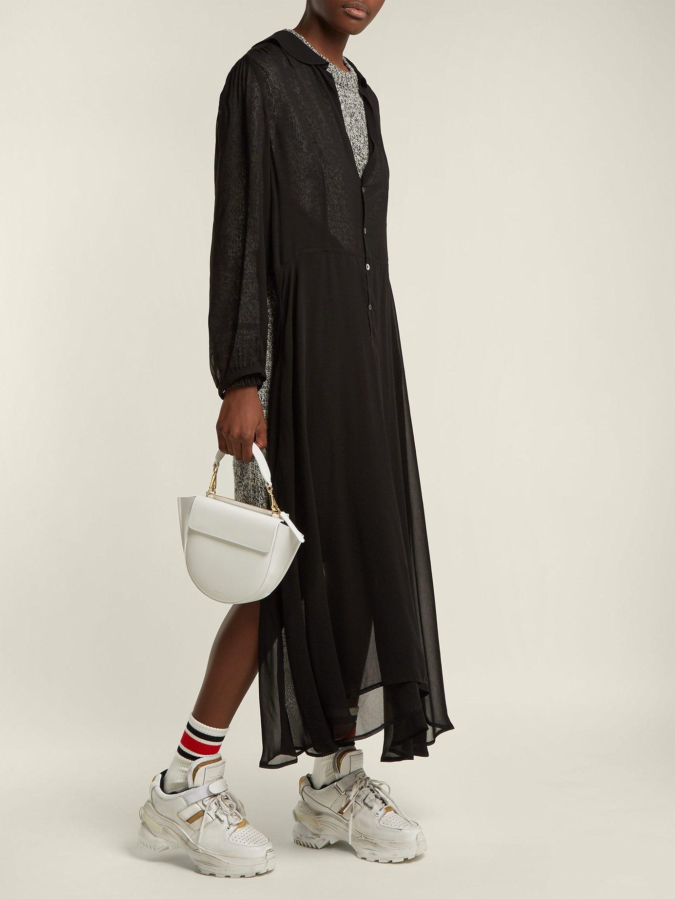 Chiffon-layer wool dress by Junya Watanabe