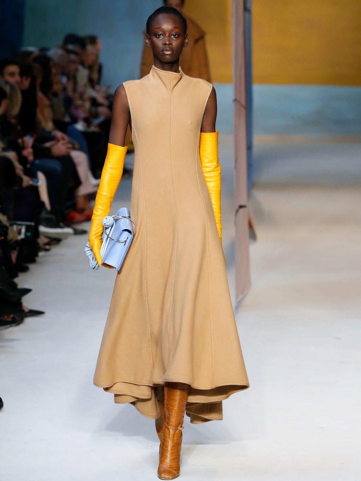 Syve twist-back asymmetric hem wool dress by Roksanda