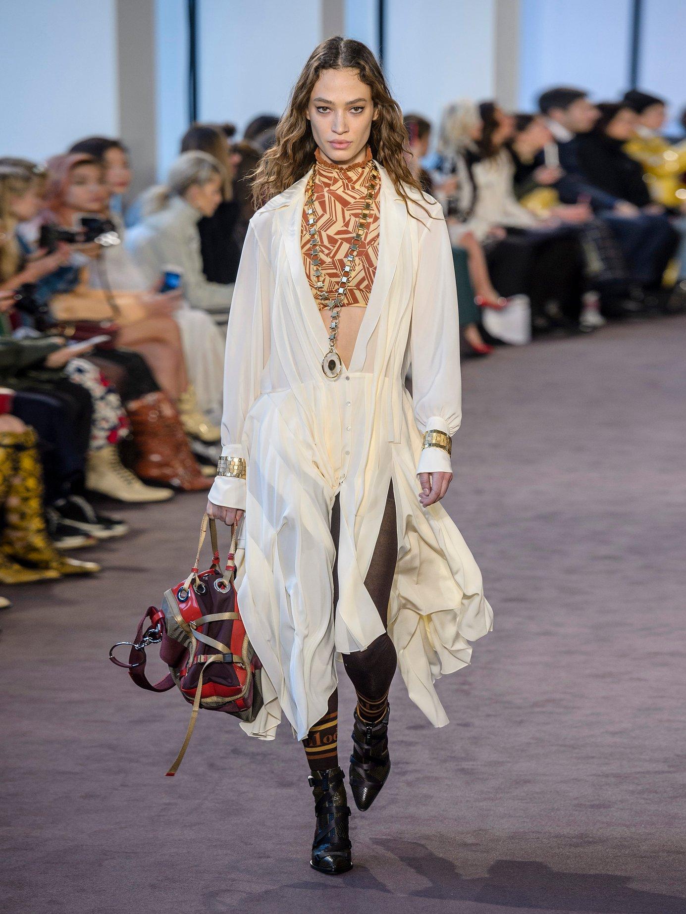 Draped silk crepe de Chine midi dress by