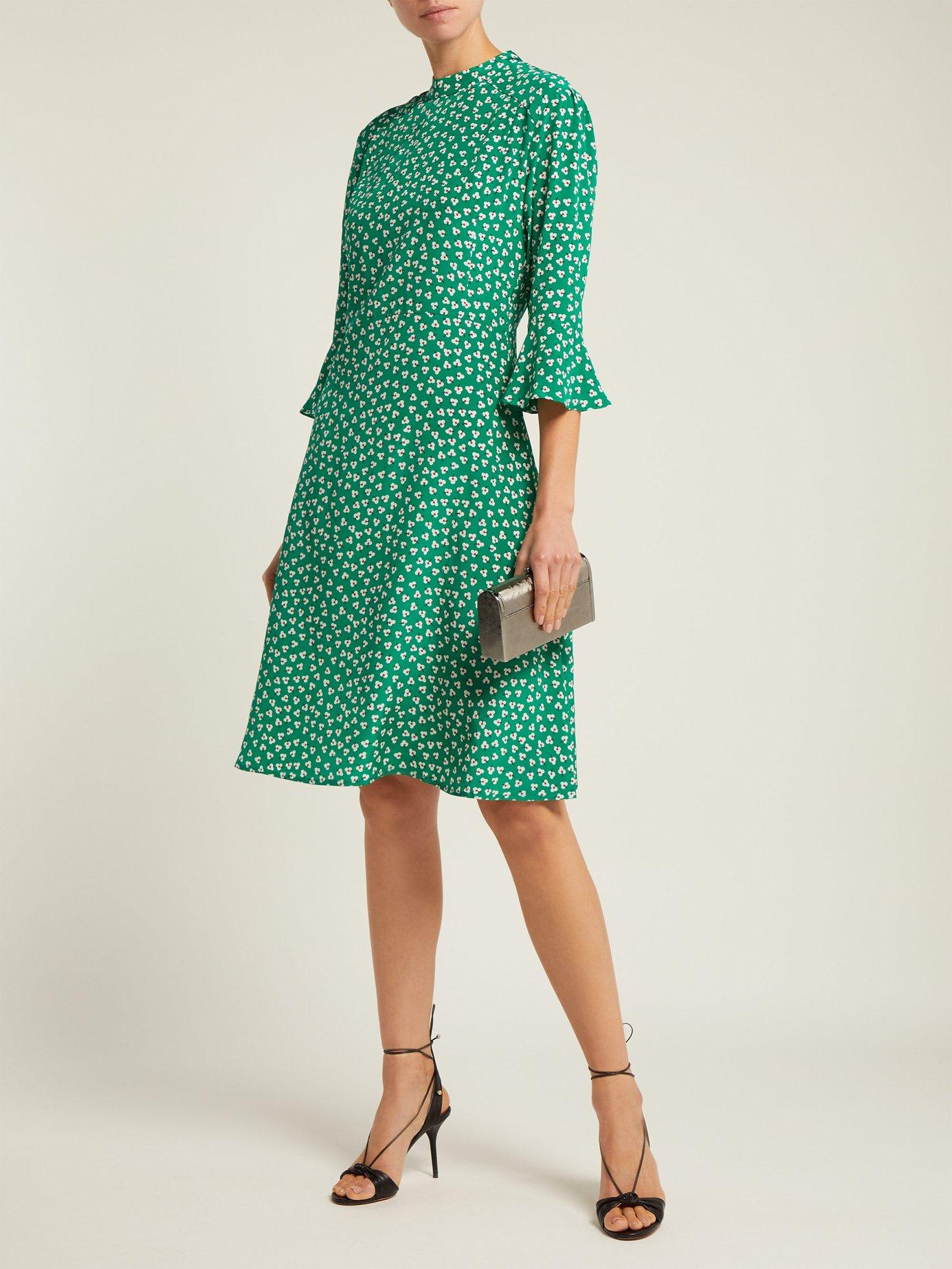 Ashley floral-print silk dress by Hvn