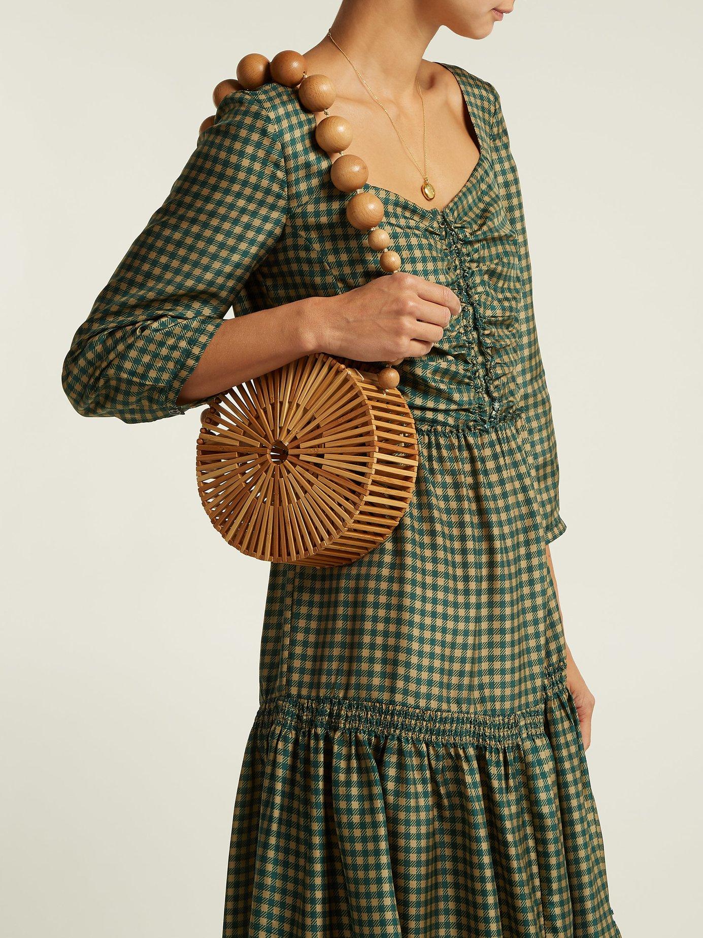 Ethno Pop tiered washed-silk midi dress by Sea