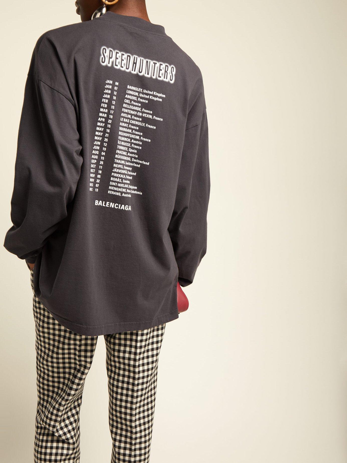 Speedhunters cotton long-sleeve T-shirt by Balenciaga