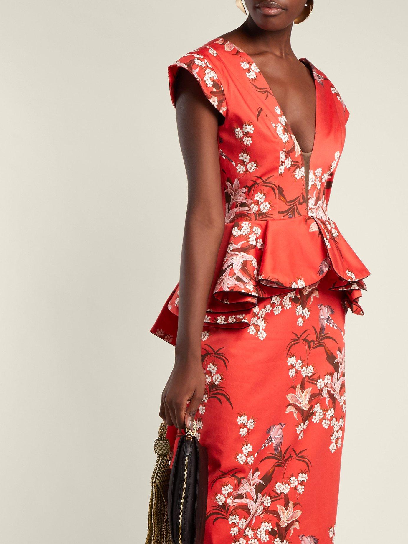 Florearse floral-print cotton-blend dress by Johanna Ortiz