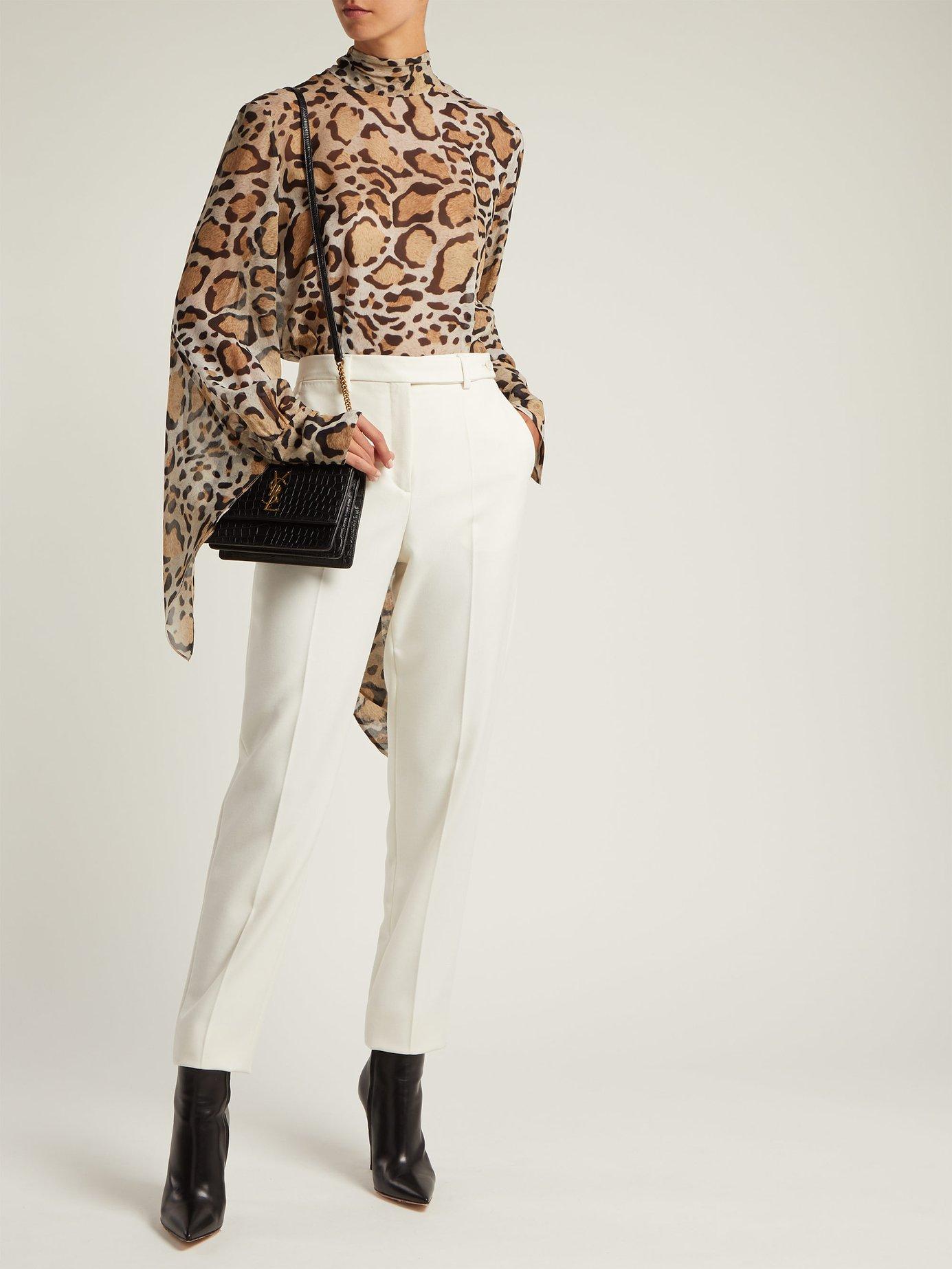 Erna leopard-print silk-chiffon blouse by Petar Petrov