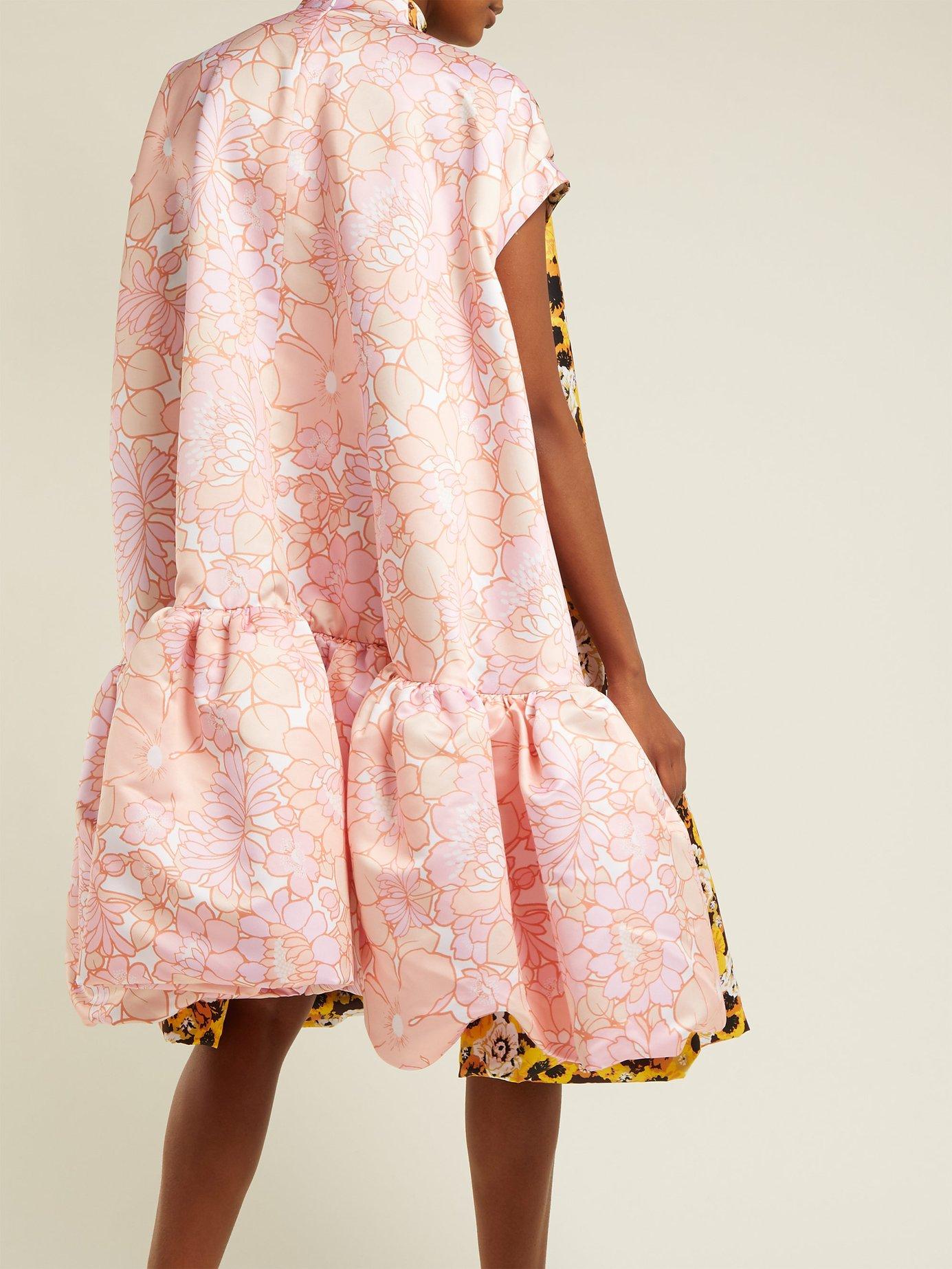 Floral-print A-line duchess satin dress by Richard Quinn
