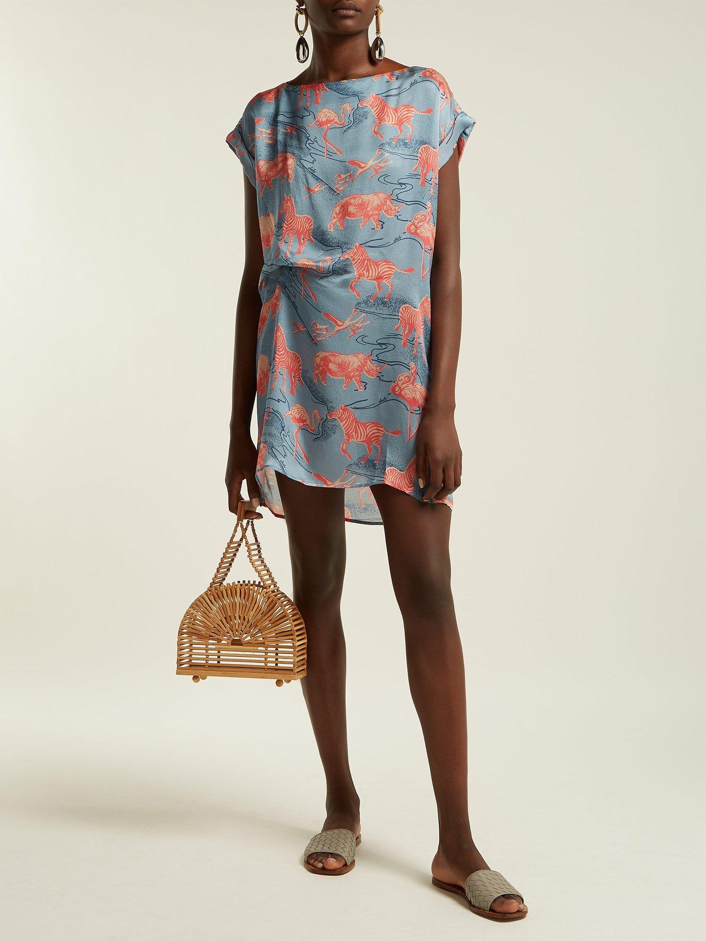 Ebel silk-satin dress by Chufy