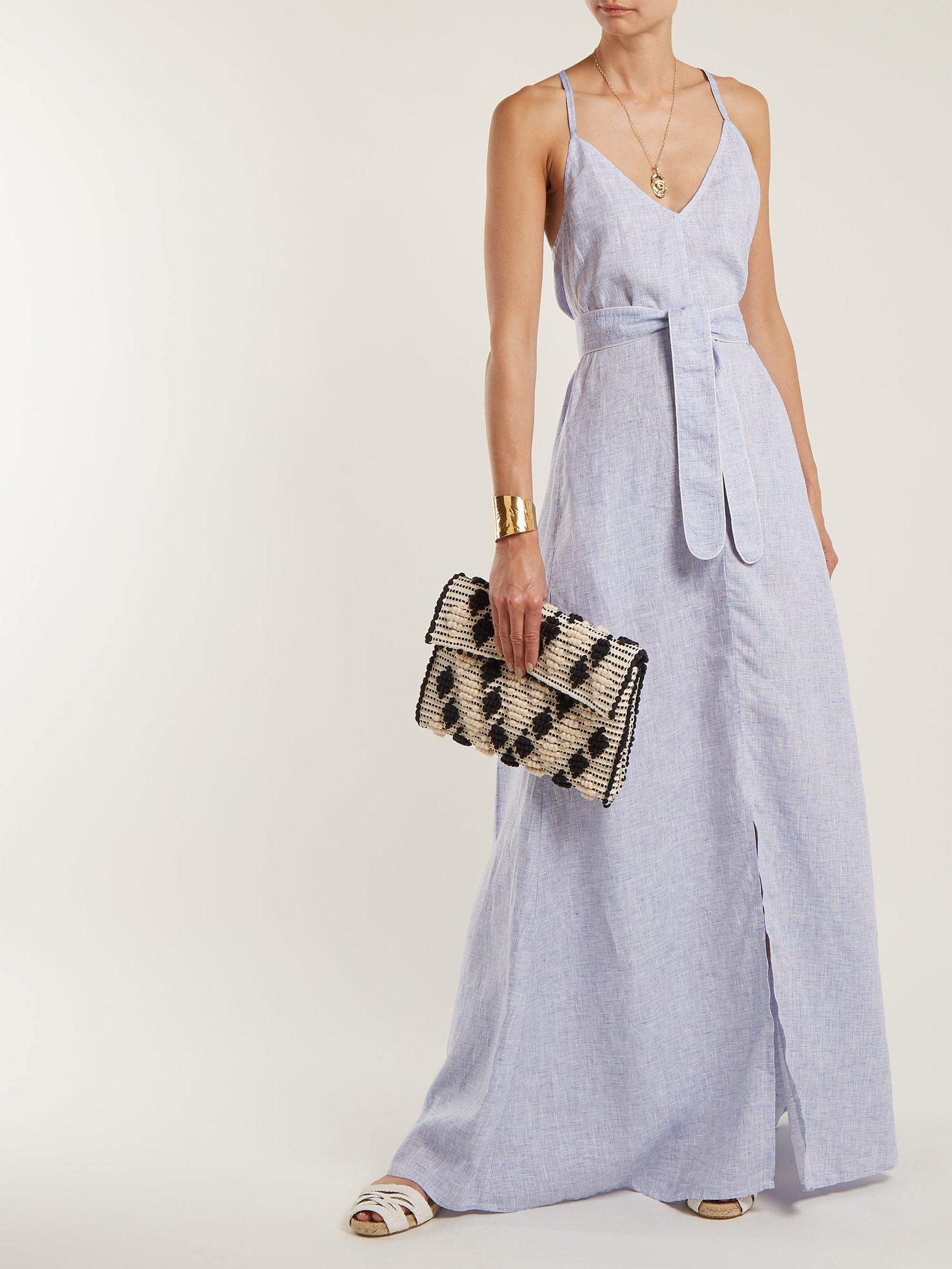Marina linen maxi dress by Wiggy Kit