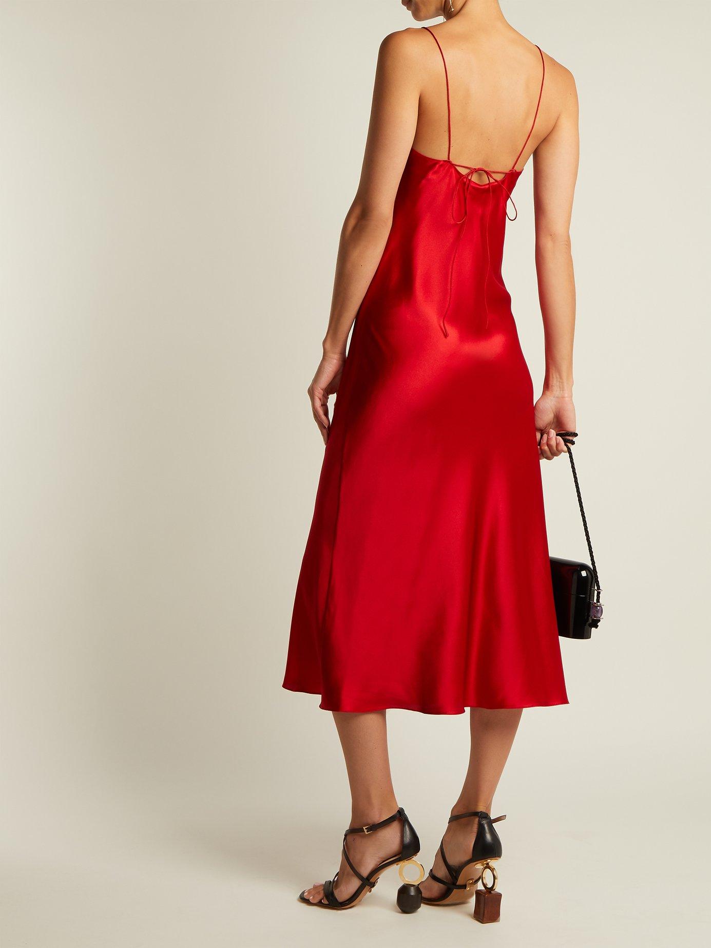 Jadi silk-satin slip dress by Adriana Iglesias