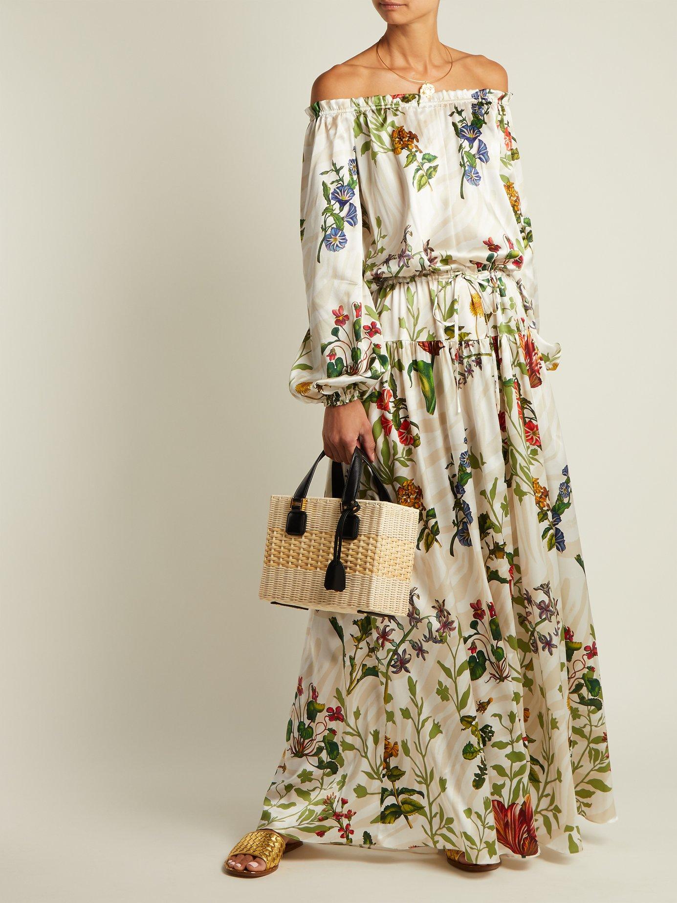 Creek floral-print silk-blend gown by Adriana Iglesias