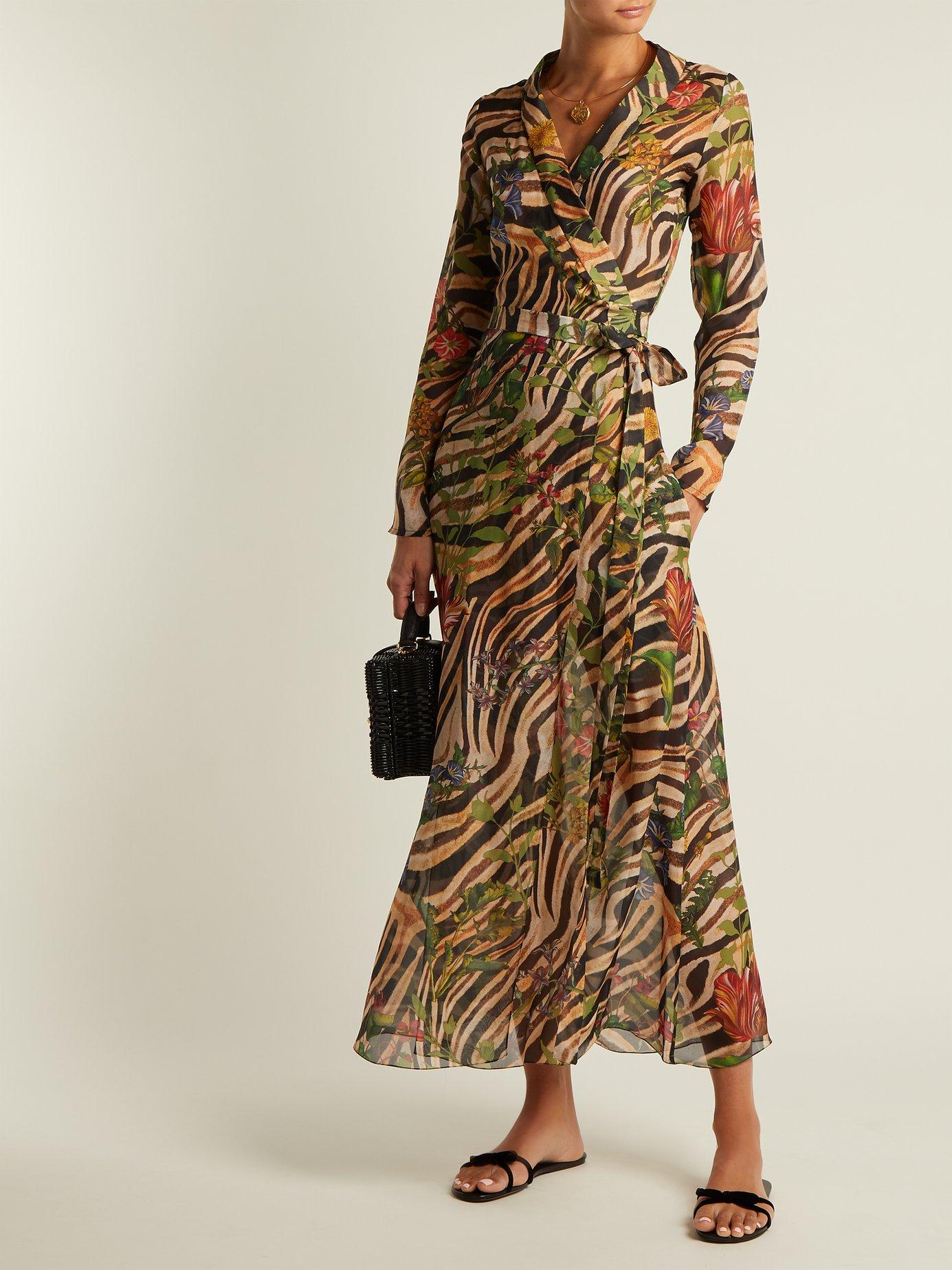 Beverly zebra-print silk chiffon dress by Adriana Iglesias
